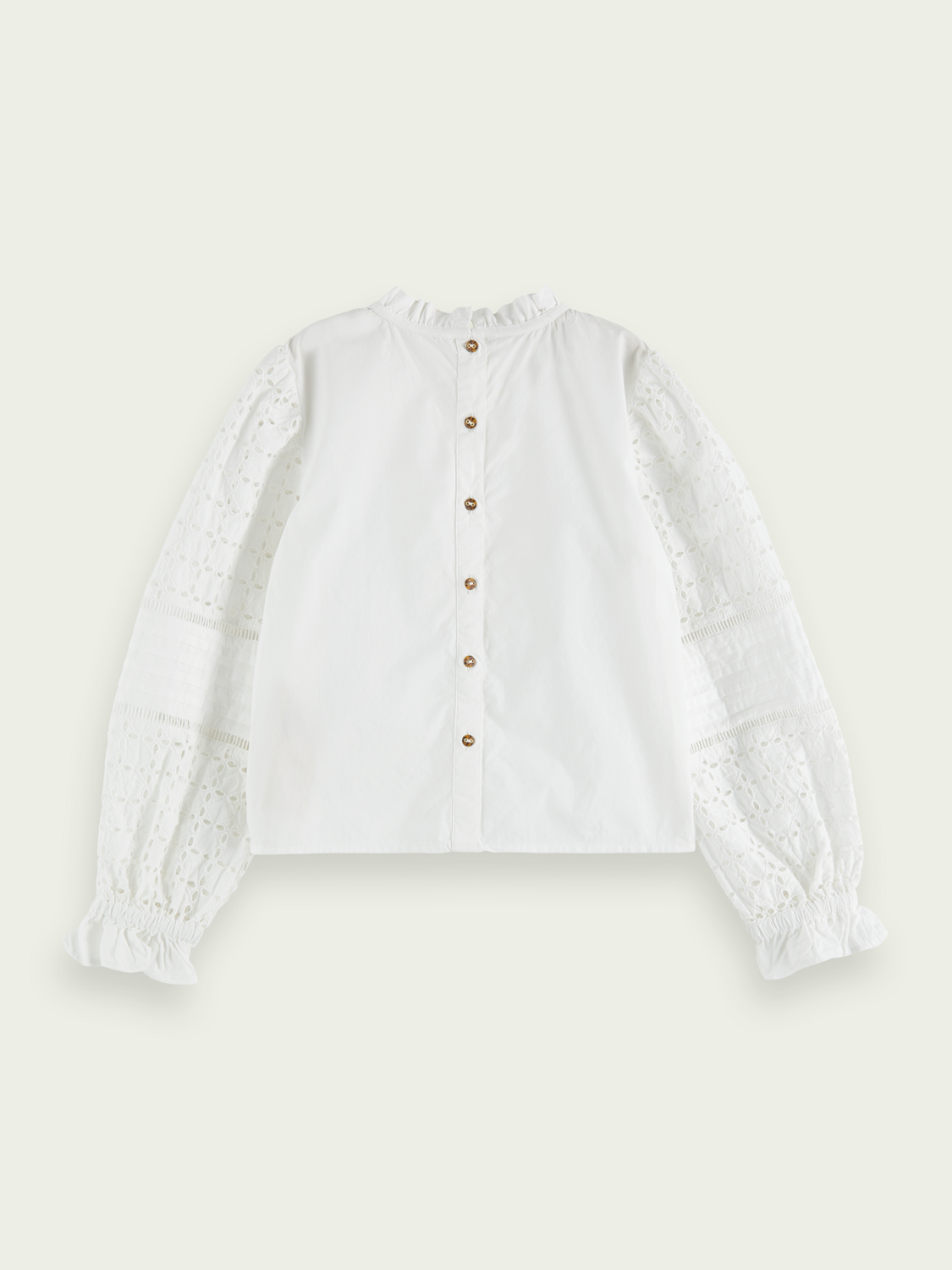 Kids Ruffled broderie anglaise top