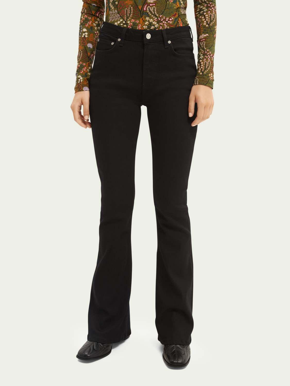 Dames De Charm high-rise flared jeans — Think Different