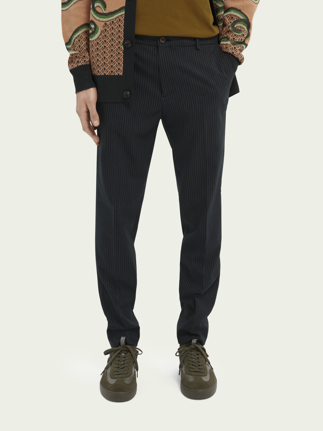 Men Mott super-slim fit recycled polyester trousers