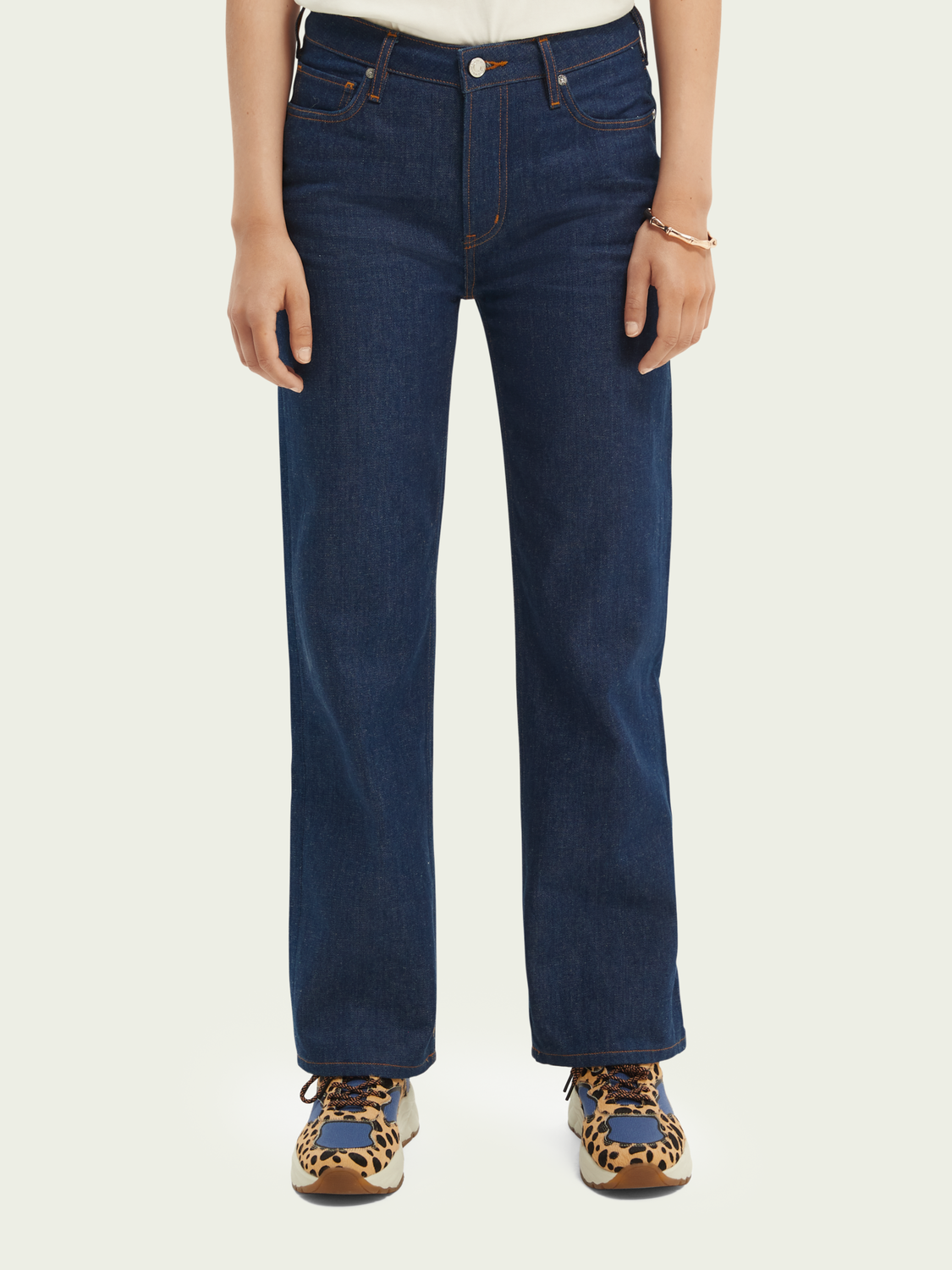 Damen The Sky High-Rise Straight Fit Jeans– In The Blue