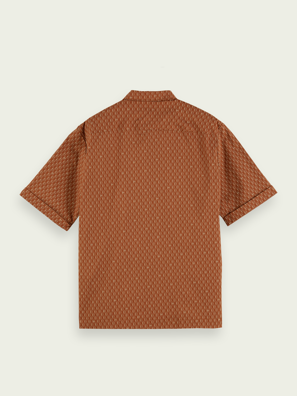 Herrar Mönstrad kortärmad skjorta