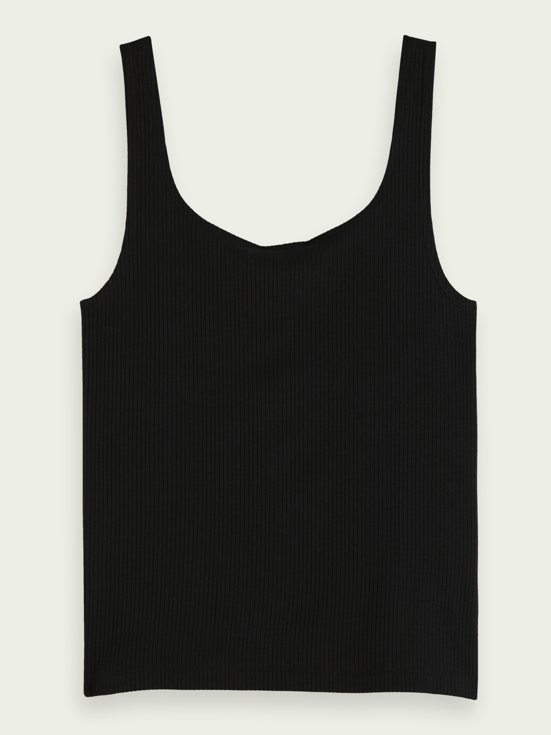 Women Square neck ribbed tank top