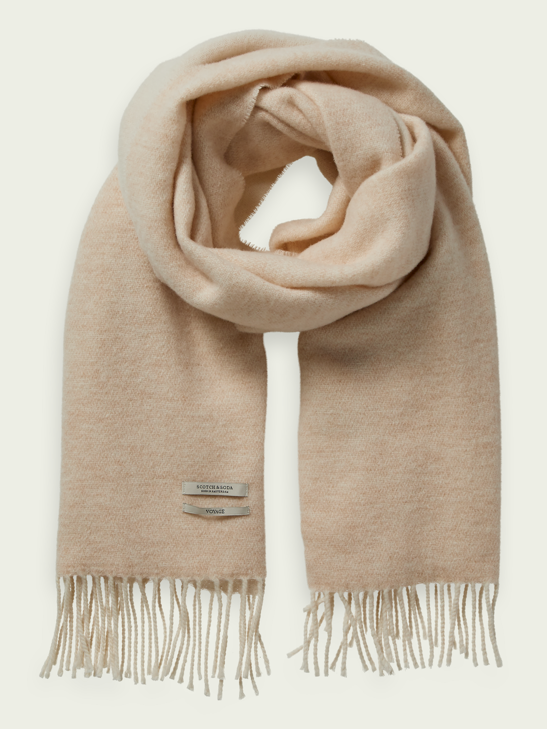 Hidden category Two-toned wool scarf
