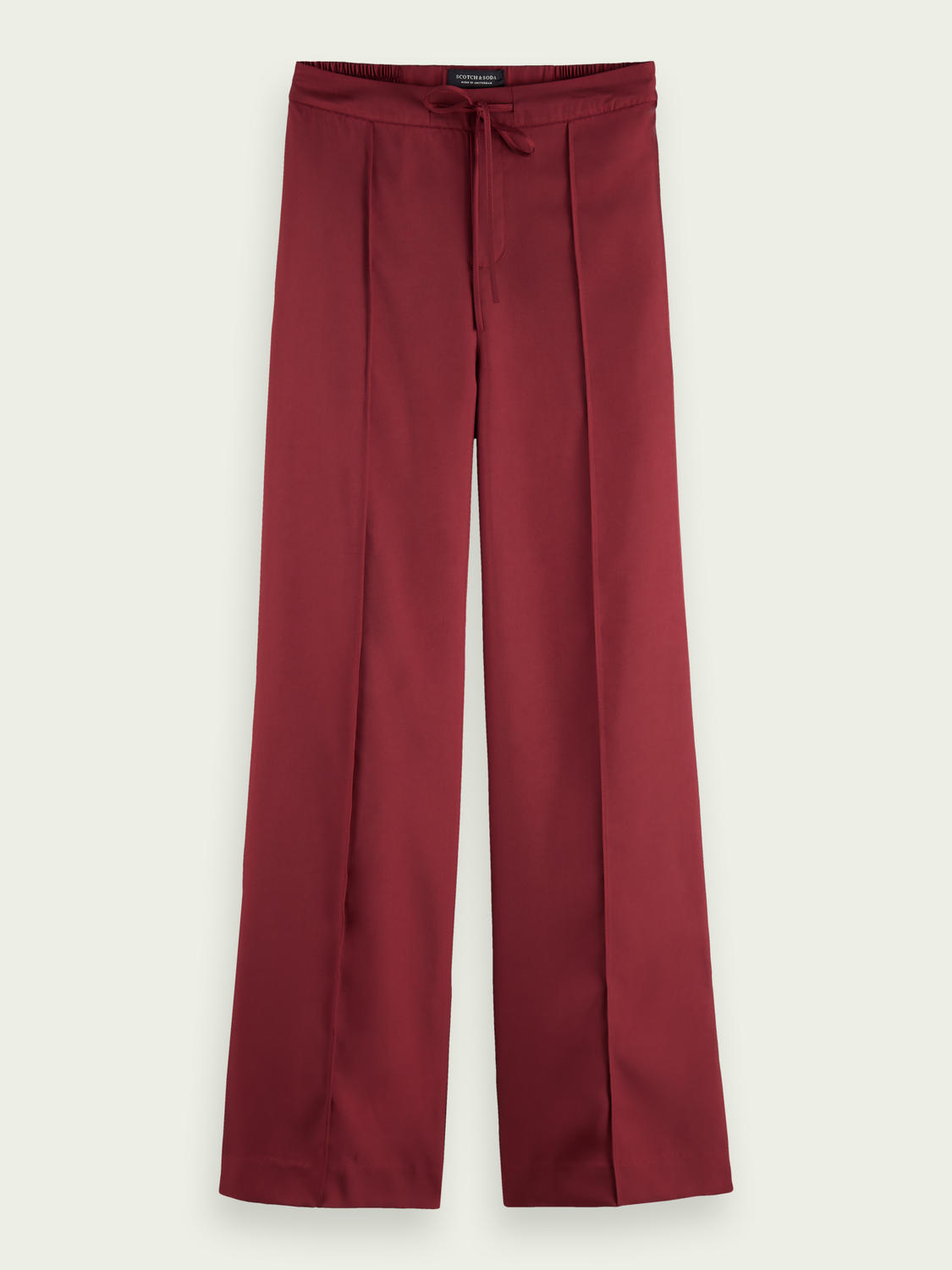 Scotch & Soda Storefront catalog Twill wide-leg mid-rise trousers