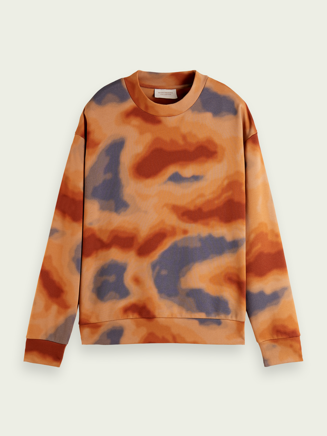Men Printed relaxed-fit crewneck sweater