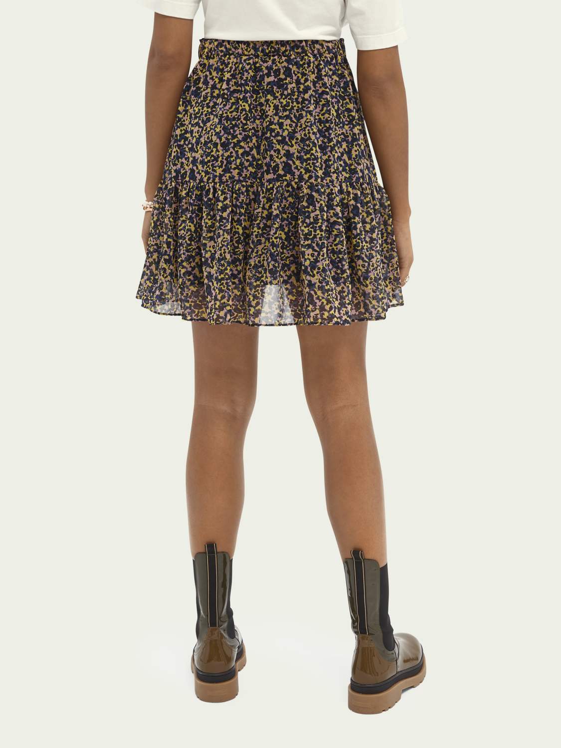 Women Printed recycled polyester-blend skirt
