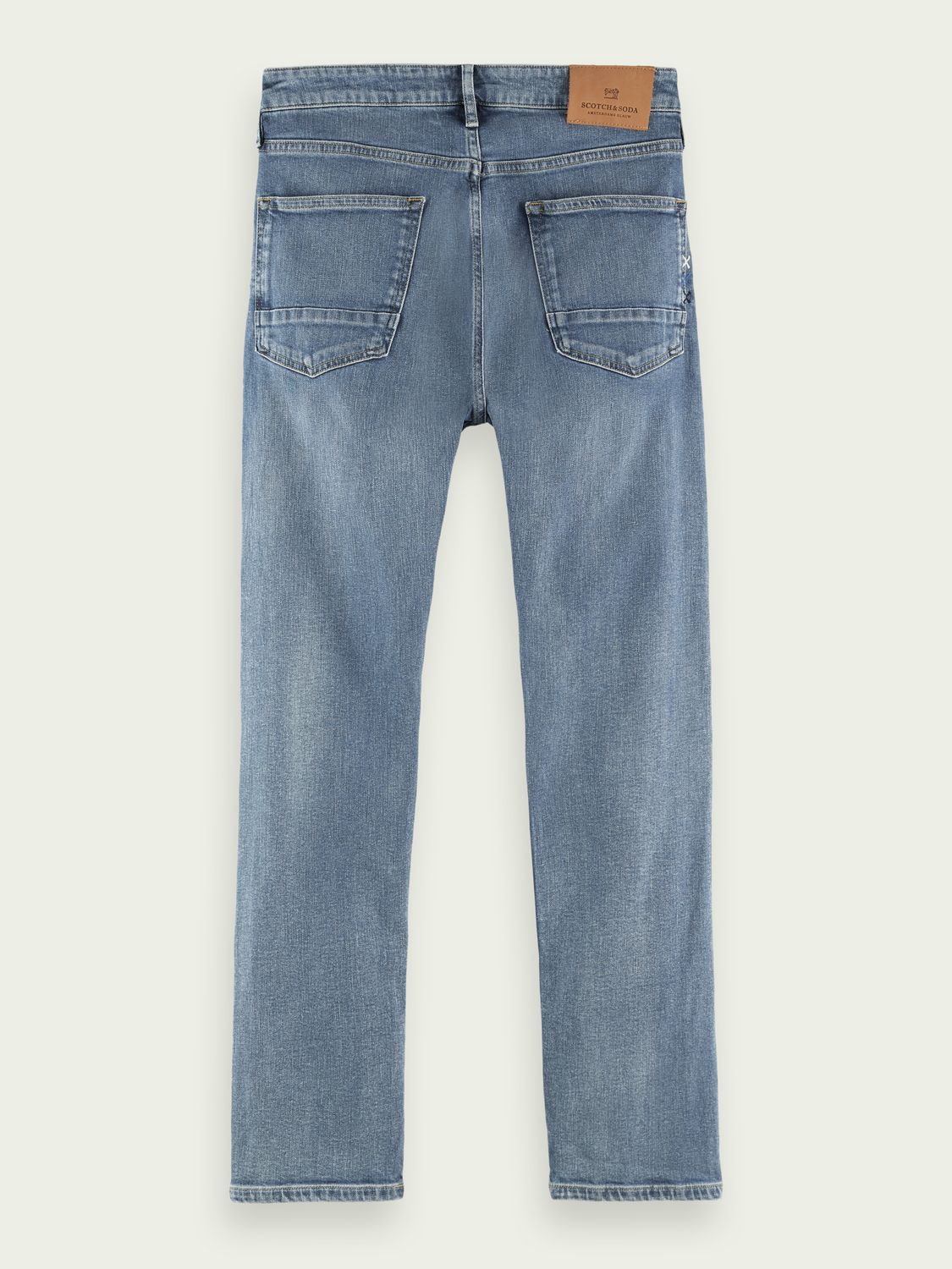 Men Skim recycled cotton-blend jeans — Waterflow