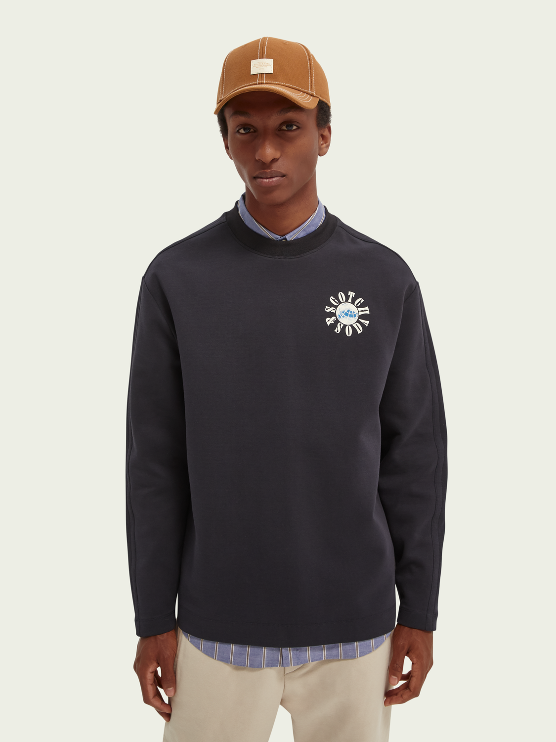 Heren Logo graphic loose-fit sweater