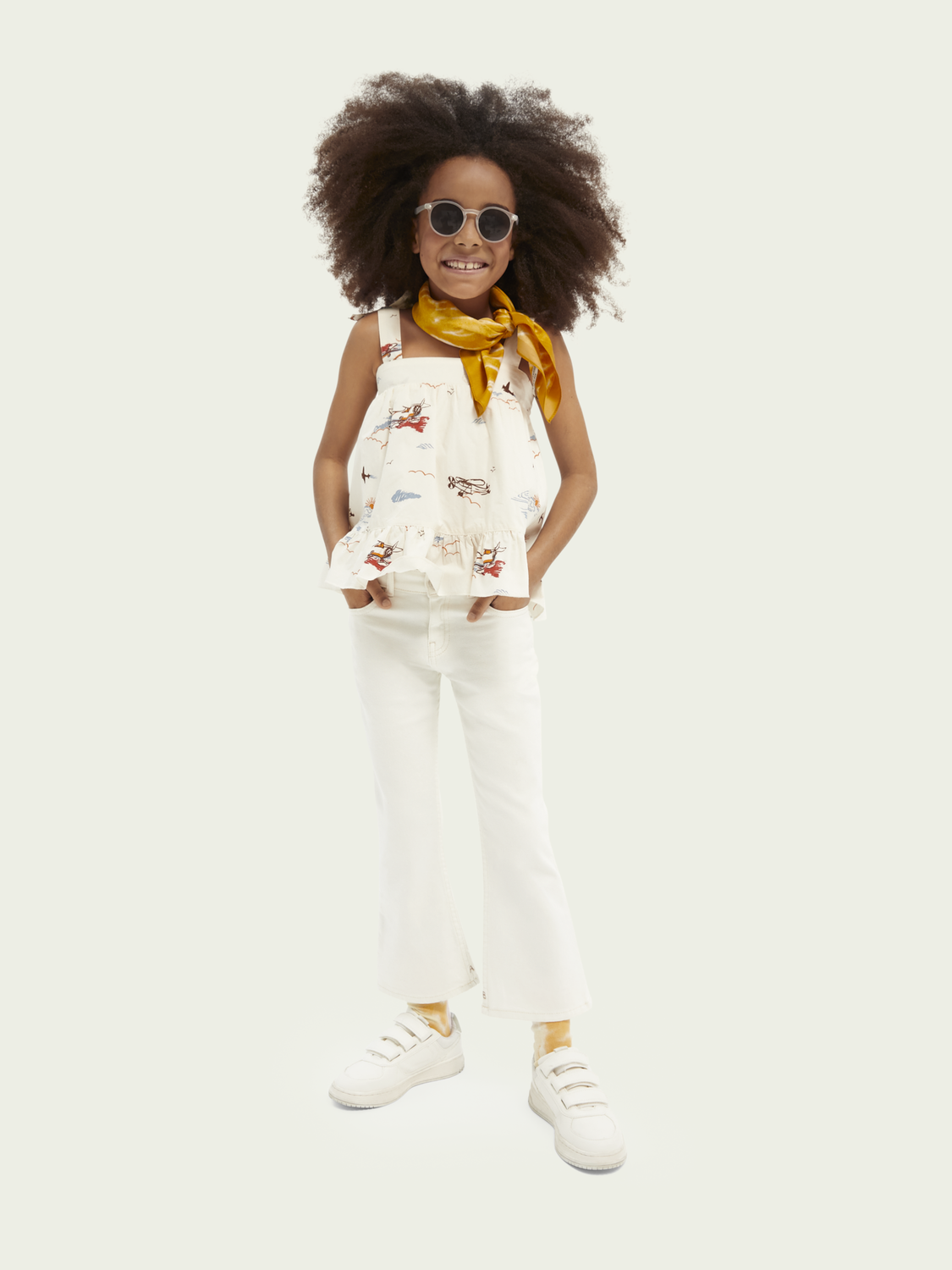 Kids Tiered A-line organic cotton top