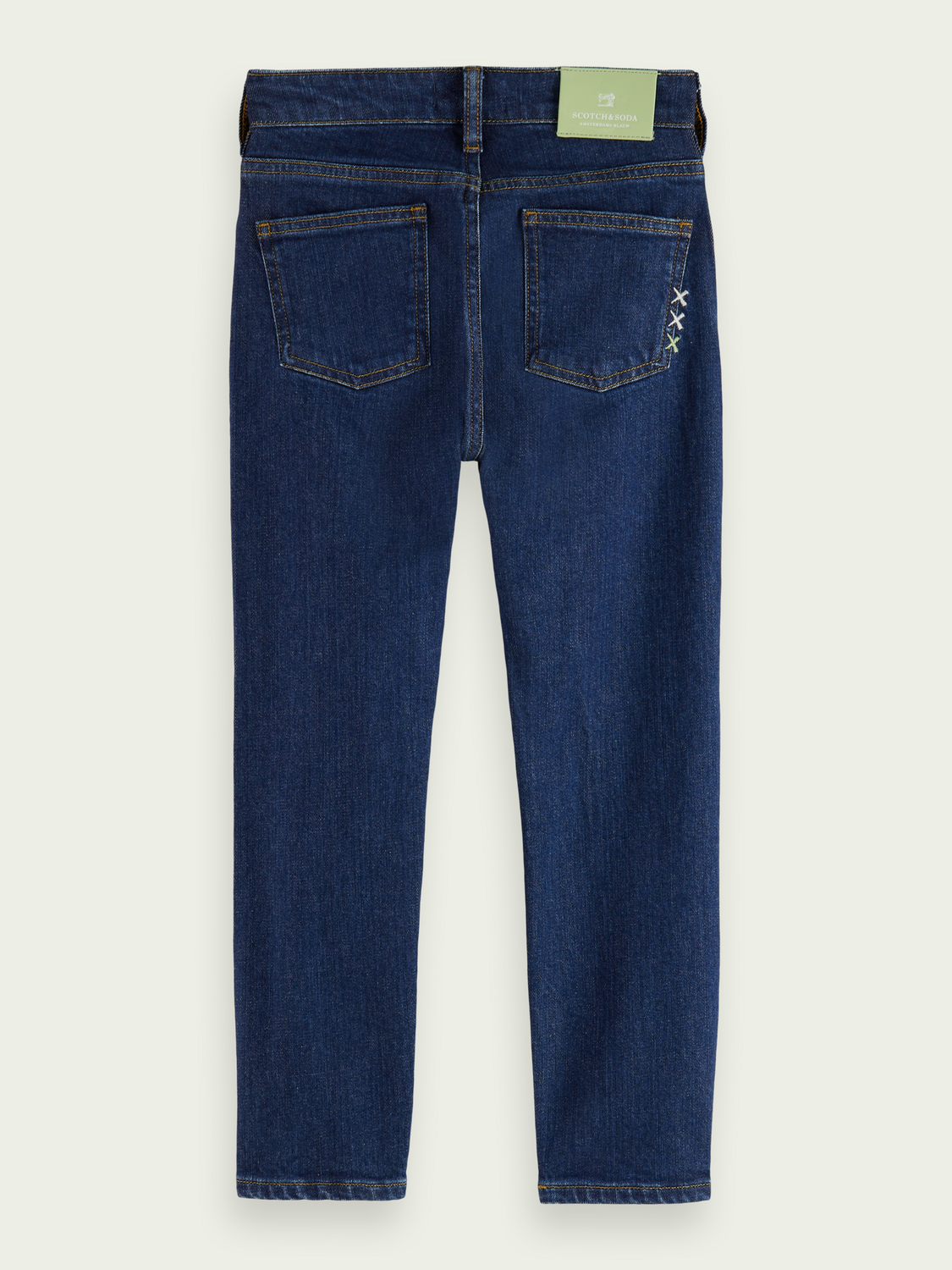 Kids Dean loose tapered-fit organic cotton jeans —Cloud Burst