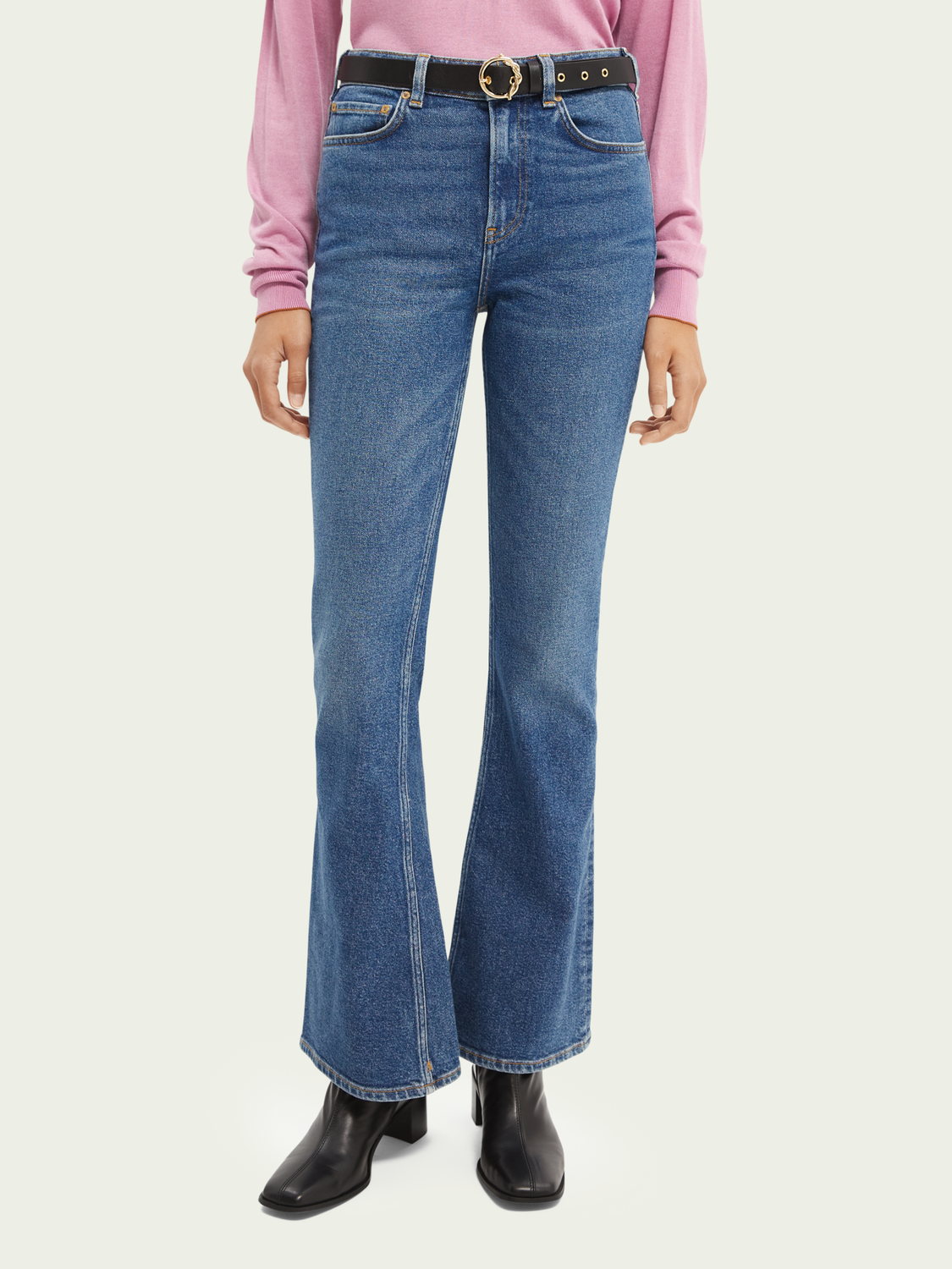 Dames De Charm flared jeans - Sea Washed