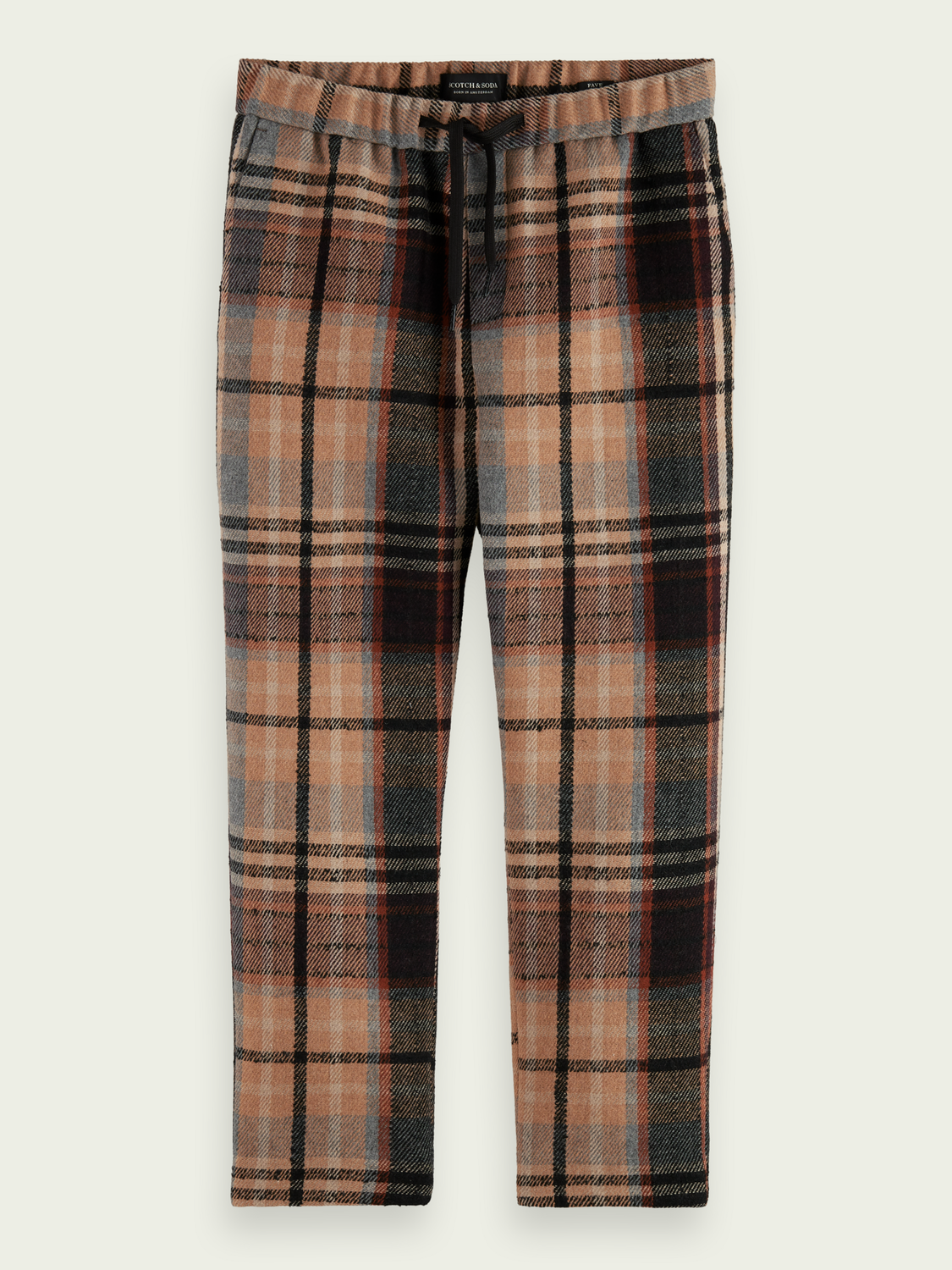 Men Fave checked tapered-fit jogger