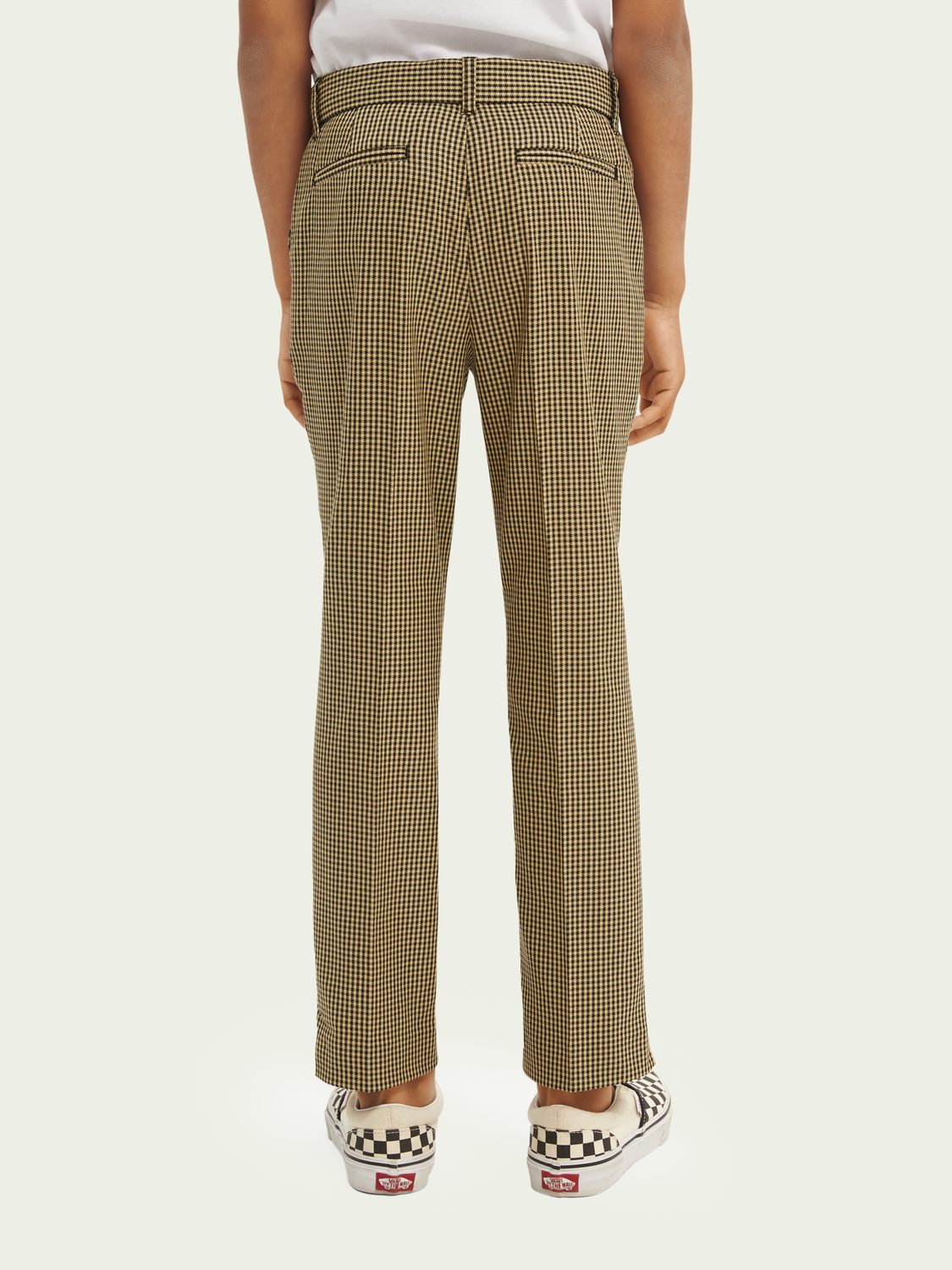 Kids Yarn-dyed checked trousers