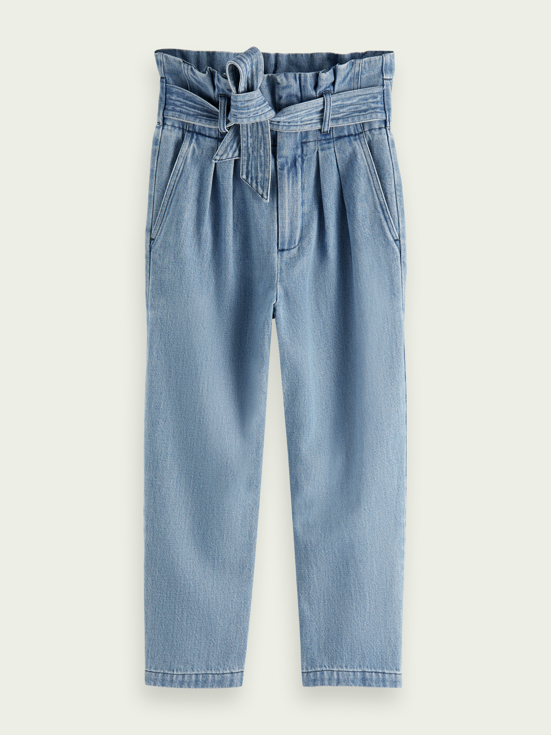 Kids High rise belted chino