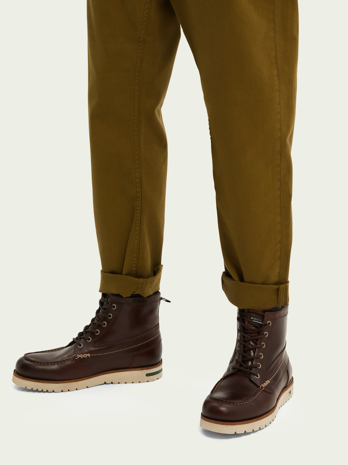 Men Levant leather mid-length boot