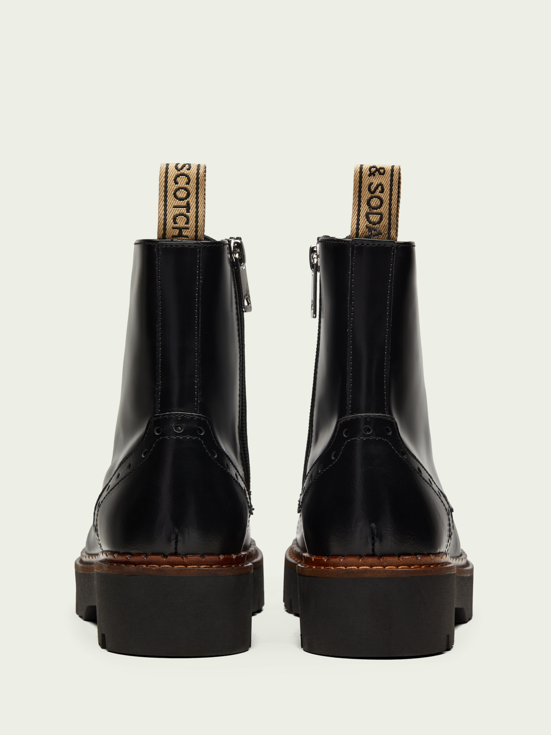 Hidden category Olivine mid-length leather boot