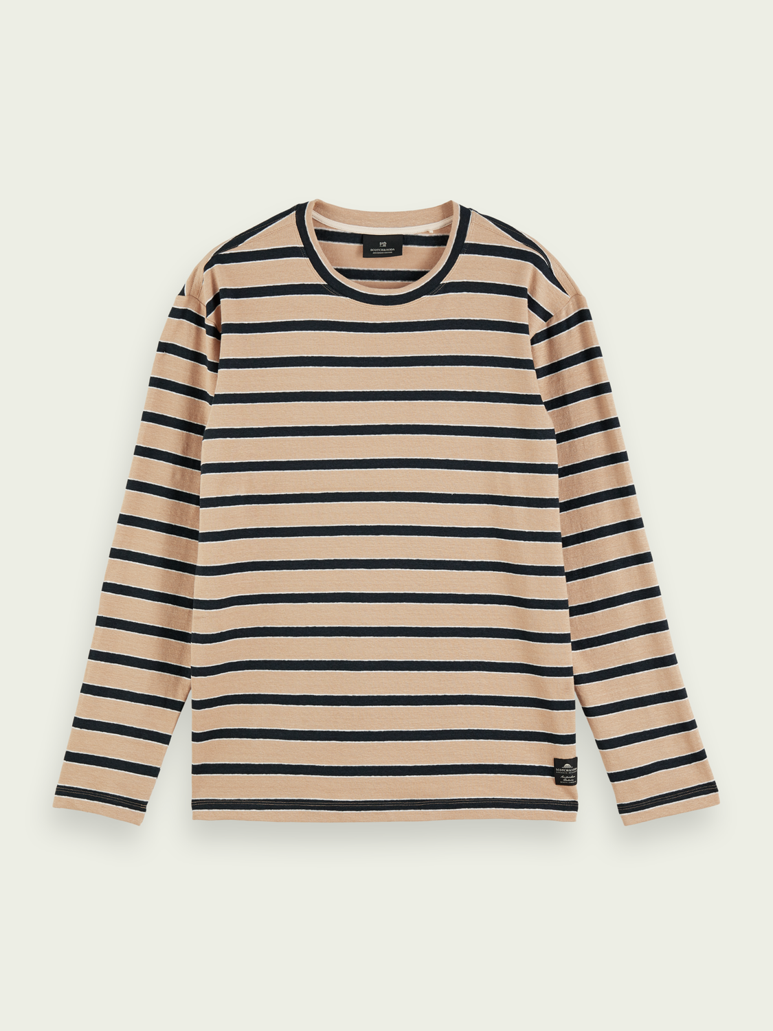 Men Striped linen-blend T-shirt