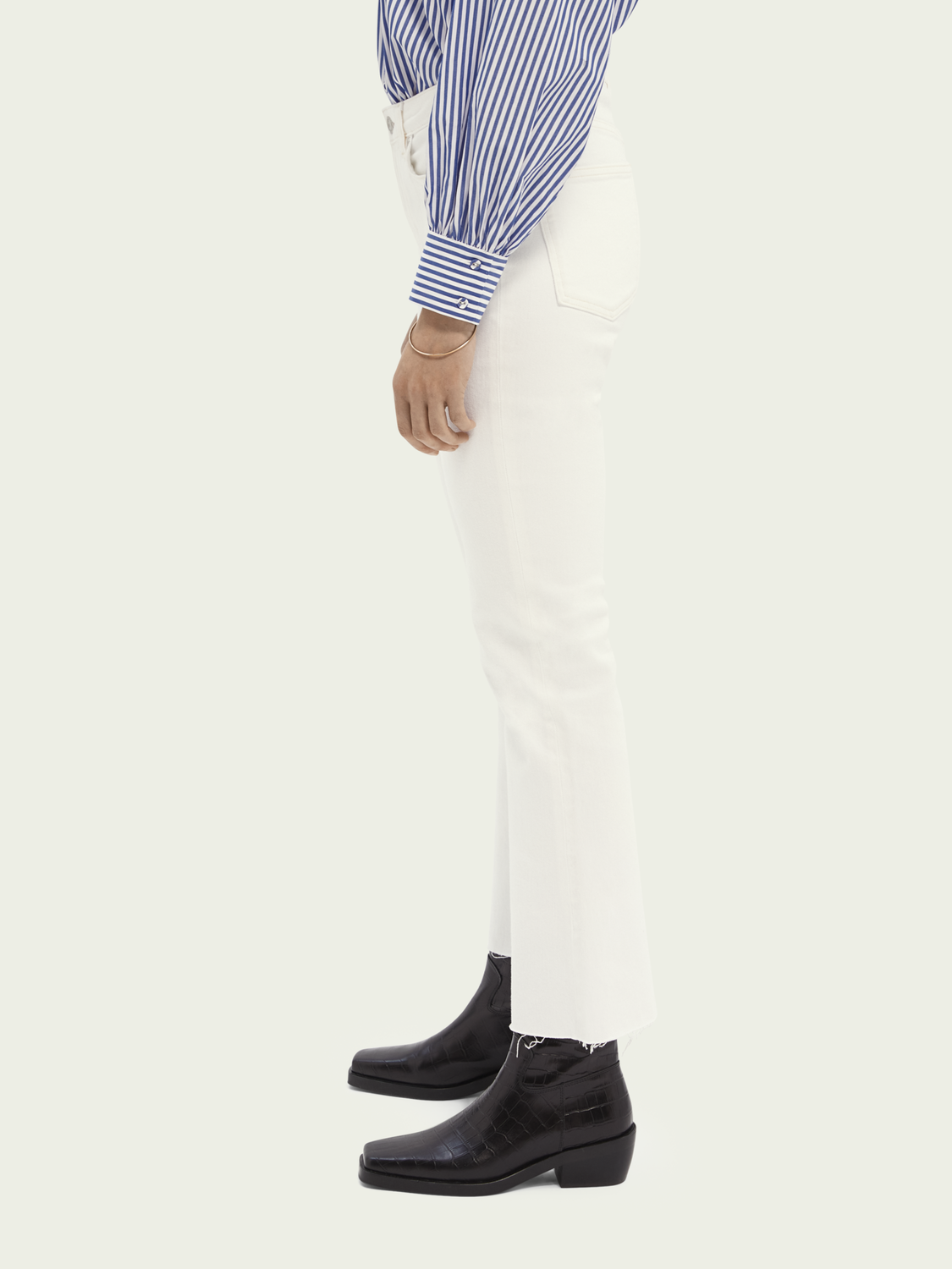 Dames The Kick flared jeans – Summer White