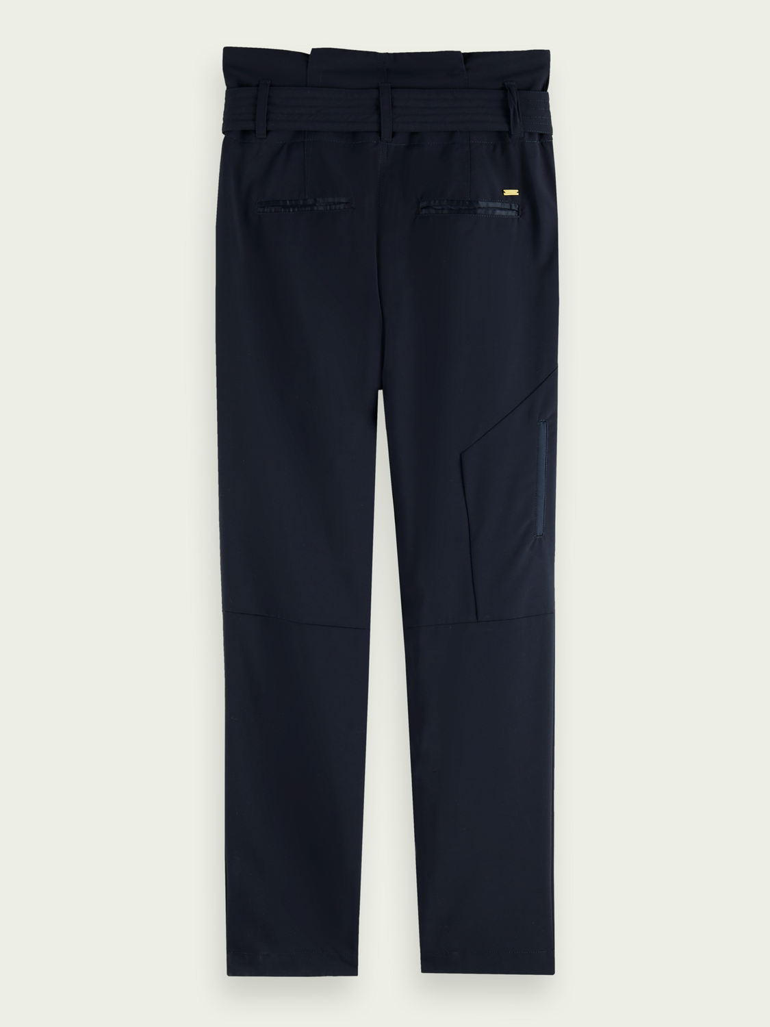 Women Navy belted trousers