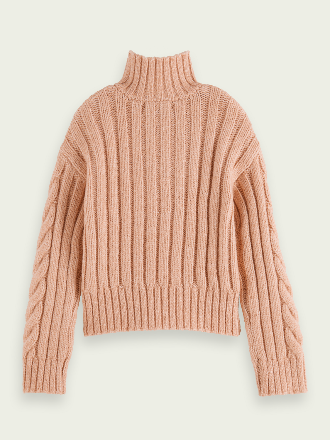Kids Half-zip cropped cable knit