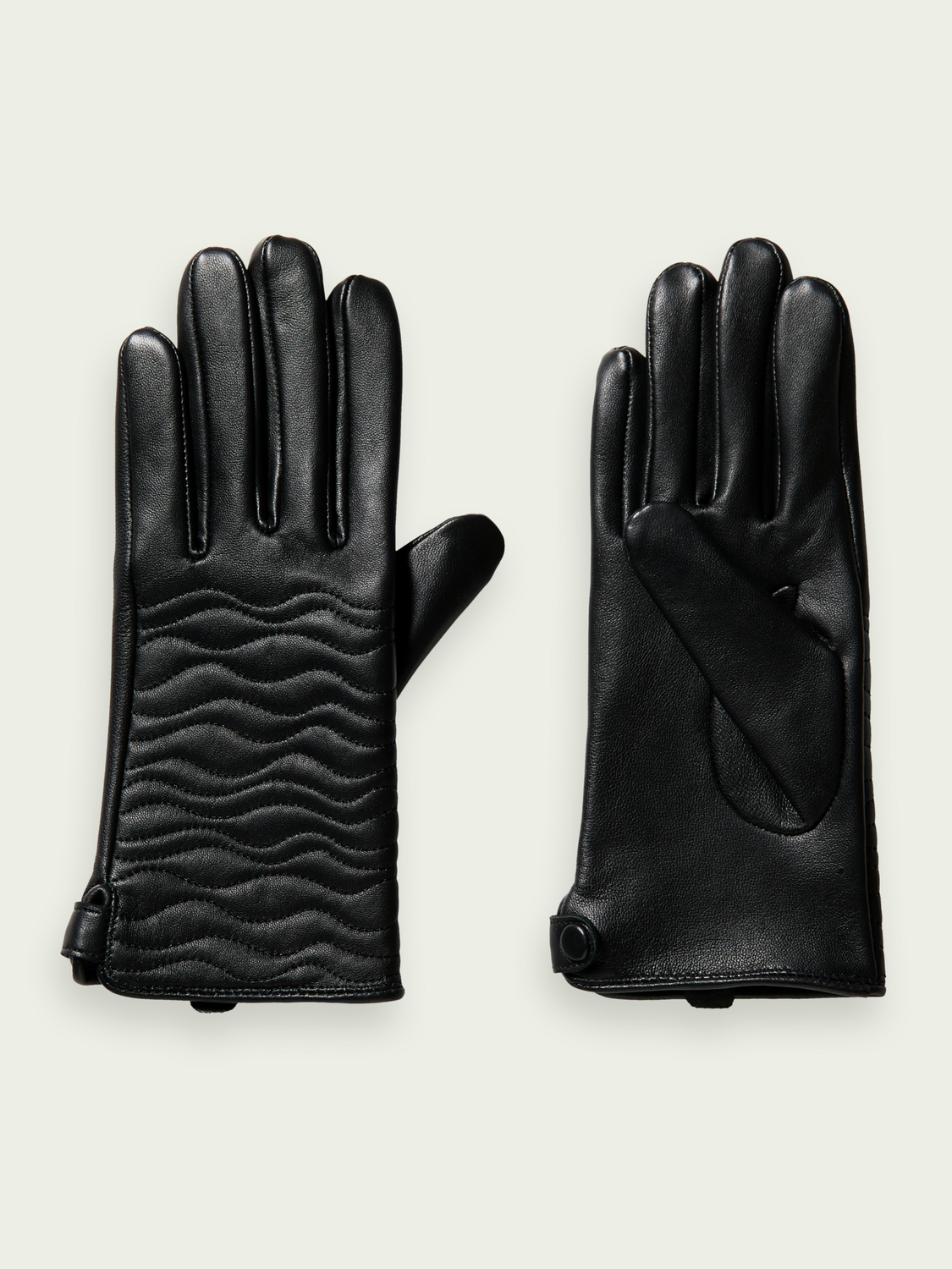 Women Leather quilted gloves