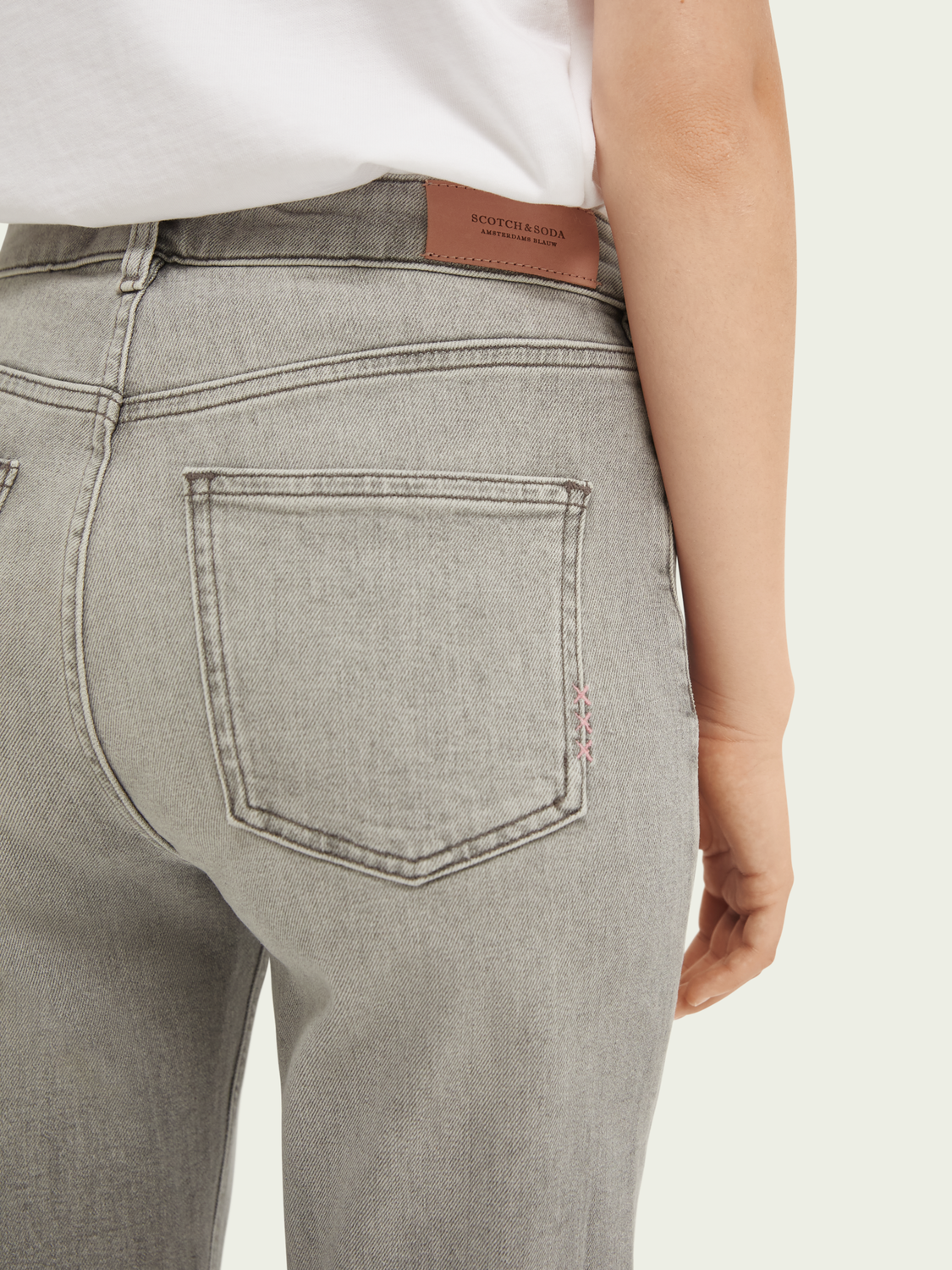 Dames High Five high-rise jeans met smalle pijpen – Fine Tune