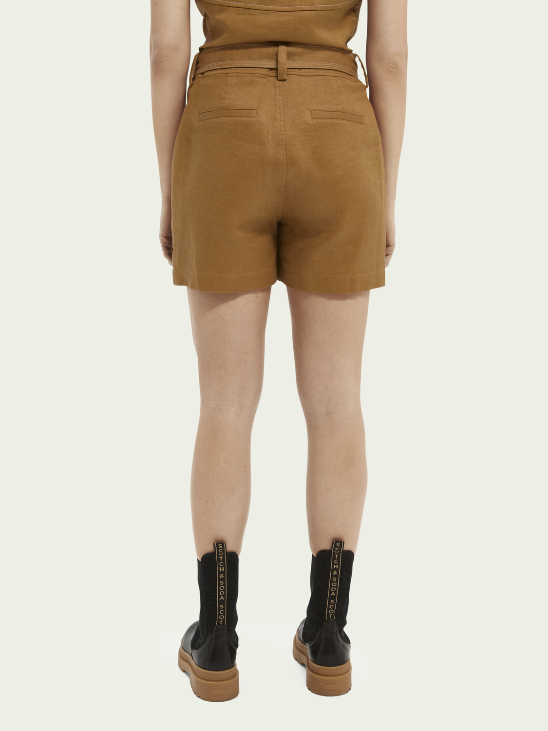 Women Cotton & linen-blend utility shorts