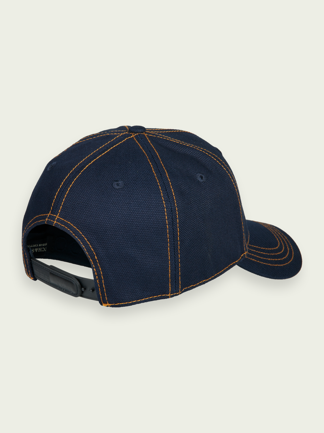 Men Contrast topstitch canvas cap