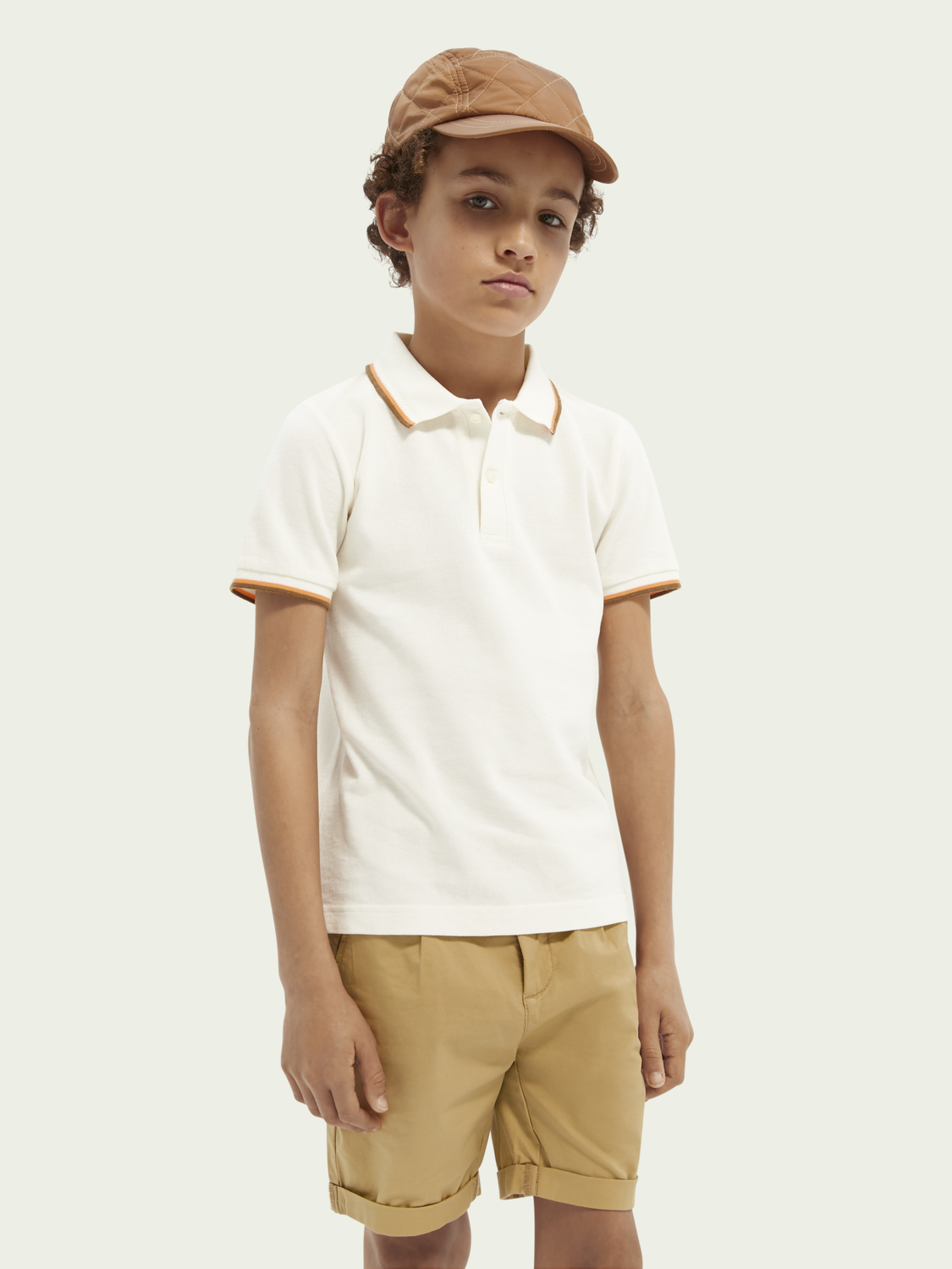 Kids Contrast piping polo