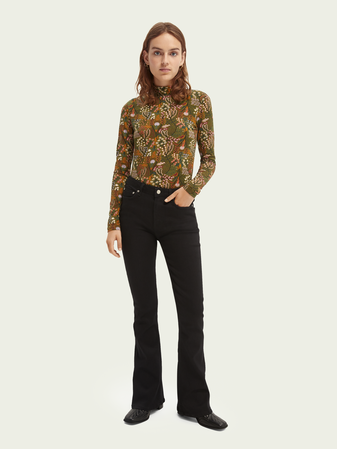 Women The Charm high-rise flared jeans —Think Different