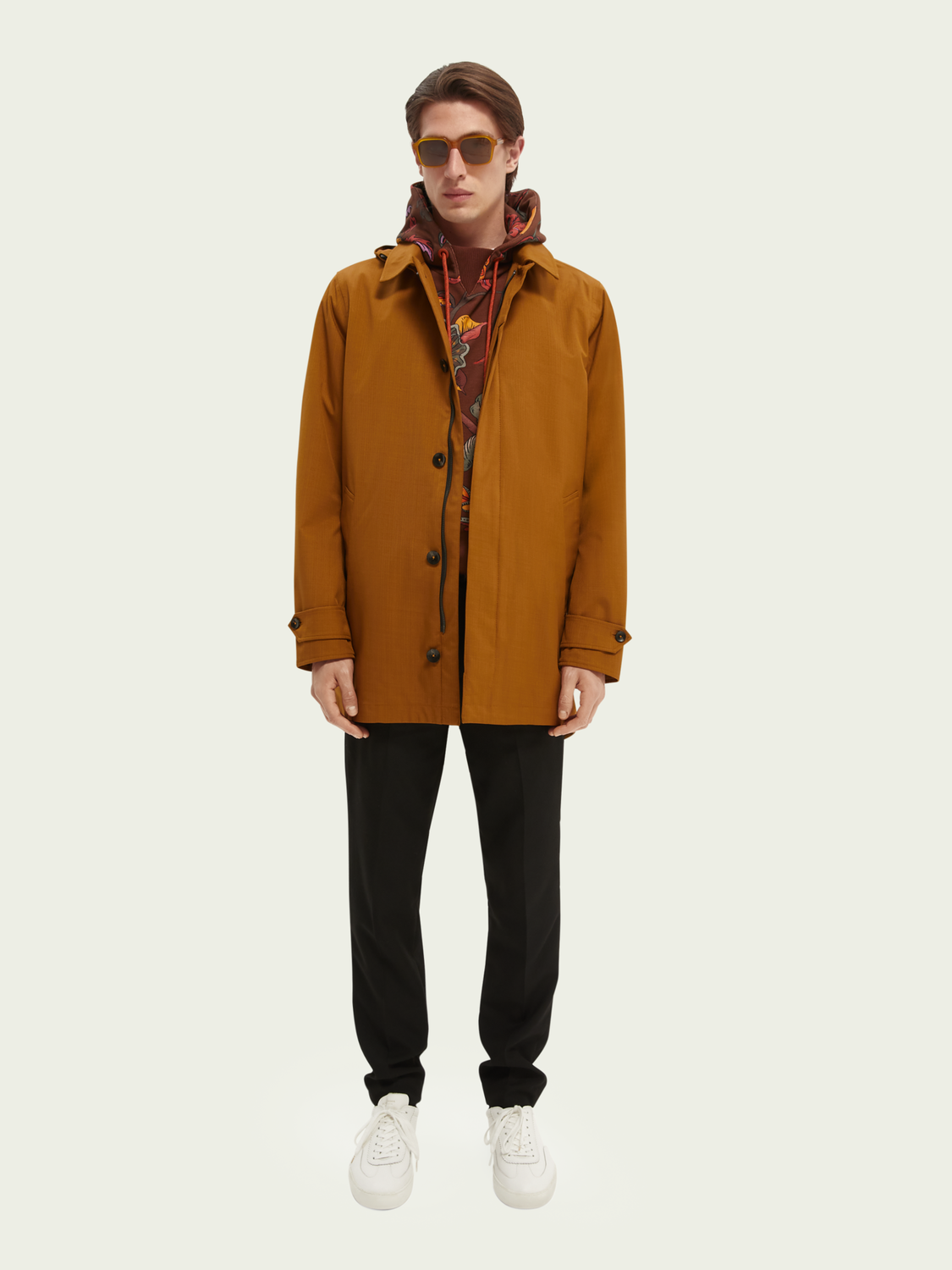 Men Water-proof taped-seam trench parka