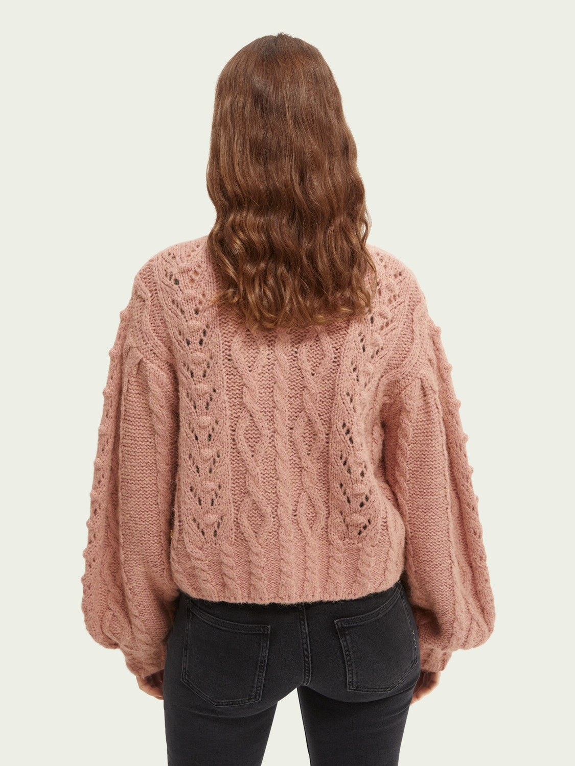 Damen Cable-knitted relaxed-fit cardigan