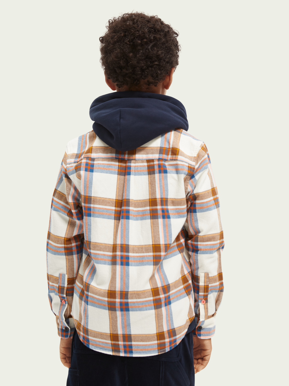 Kids Yarn-dyed long-sleeved flannel shirt