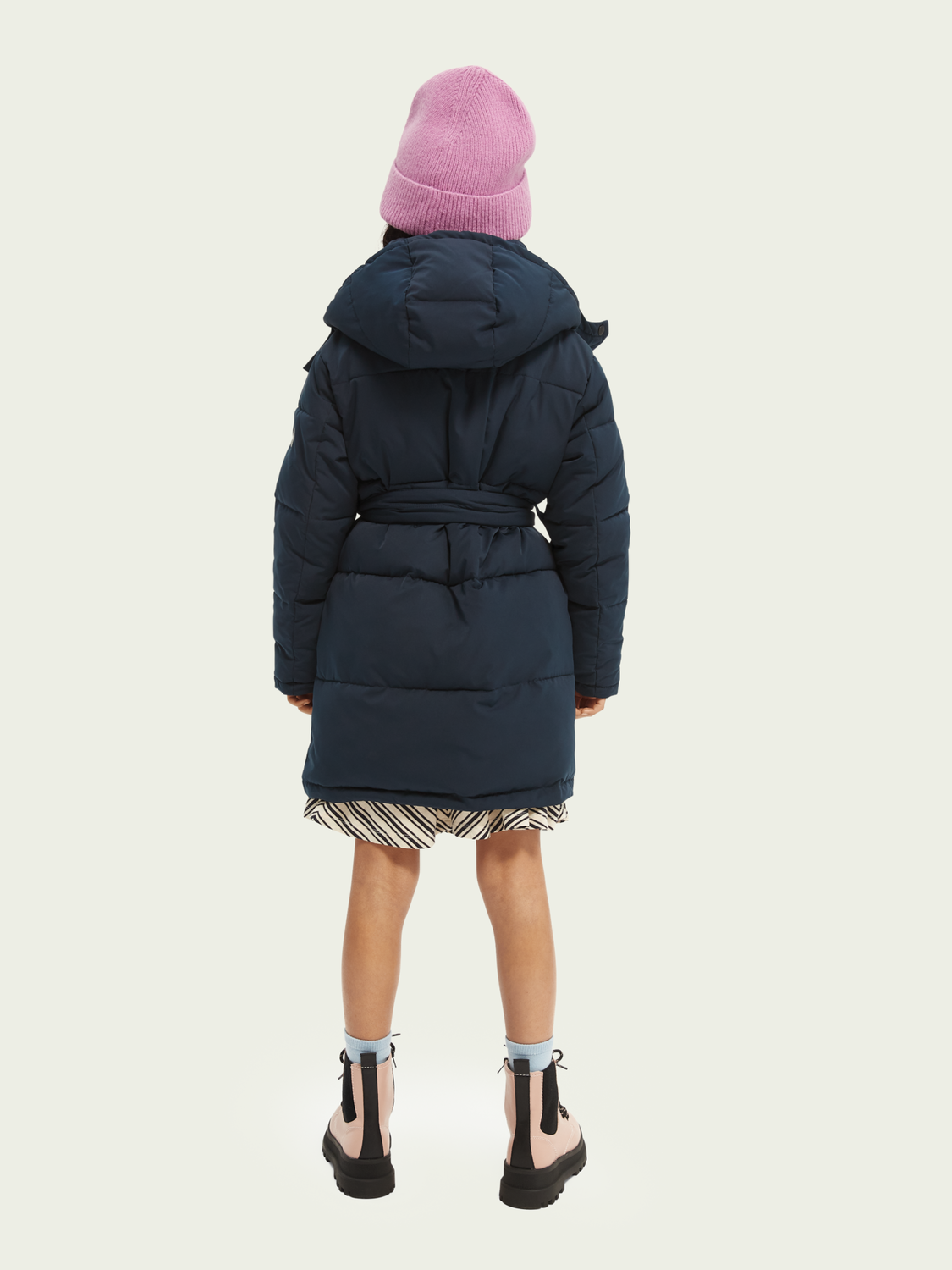 Kids Water repellent double-breasted puffer