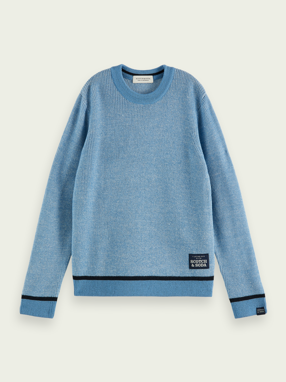 Kids Structured two-toned sweater