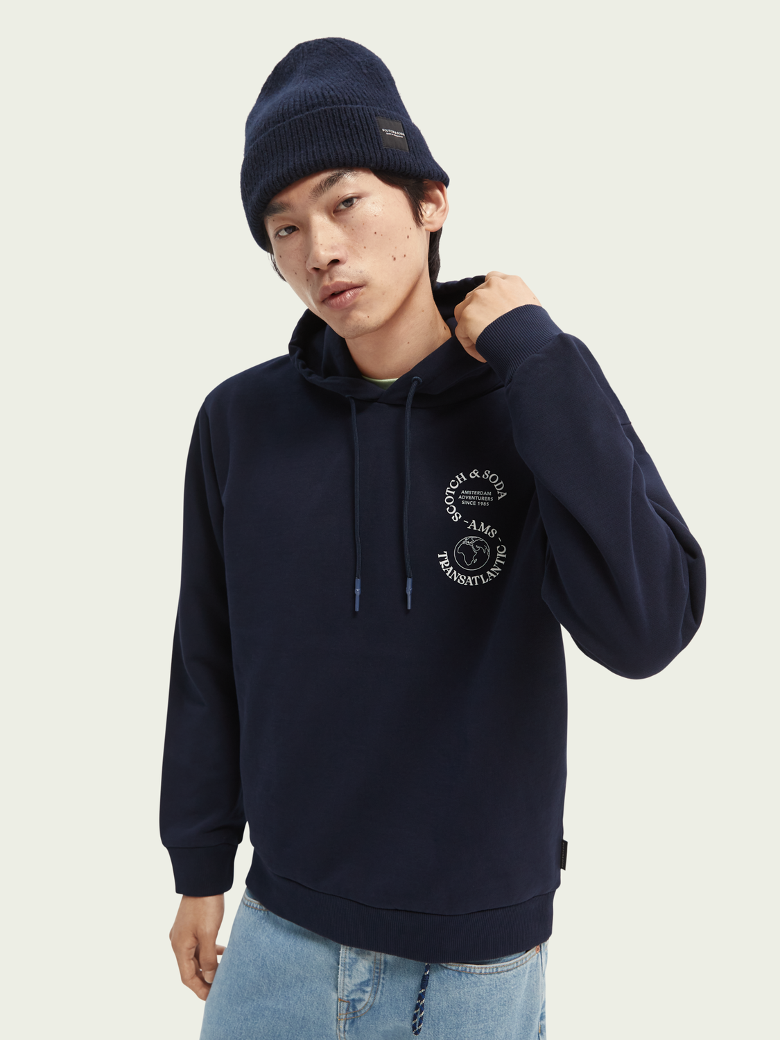 Men Hooded graphic sweater