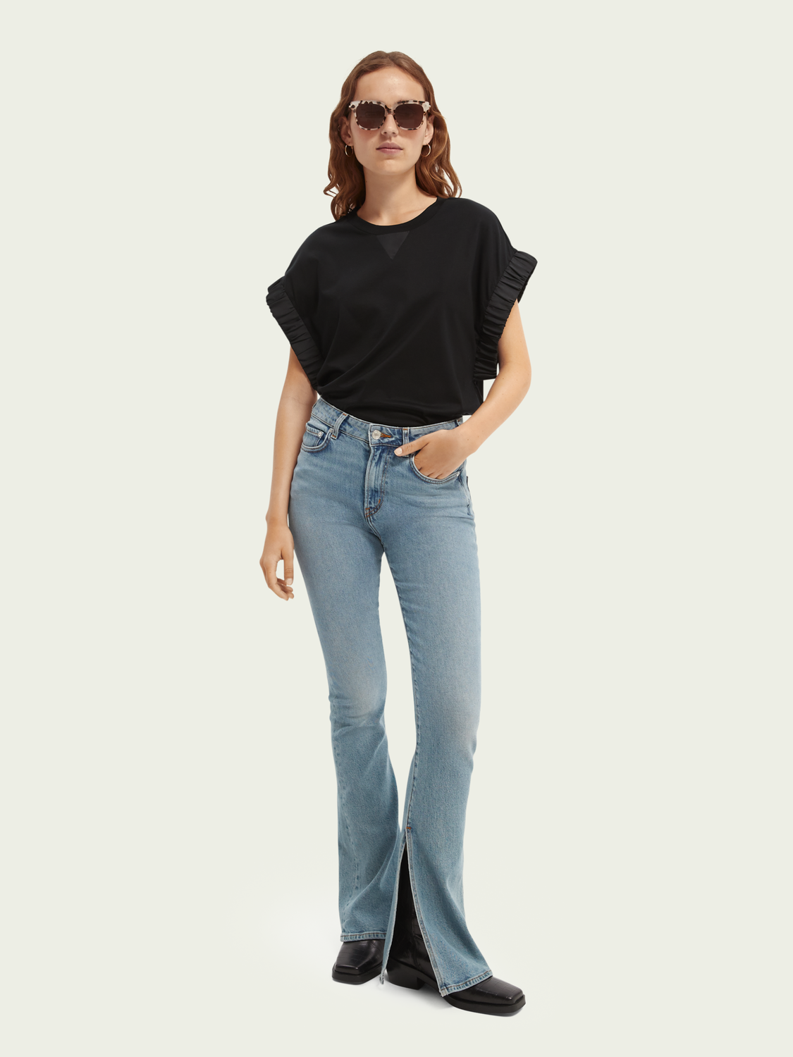 Women Ribbed sleeved top