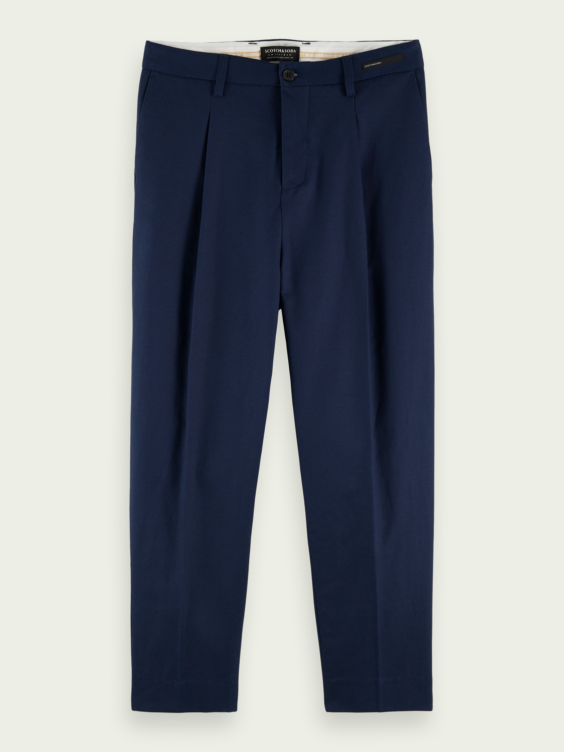 Men Pleated loose tapered-fit chino