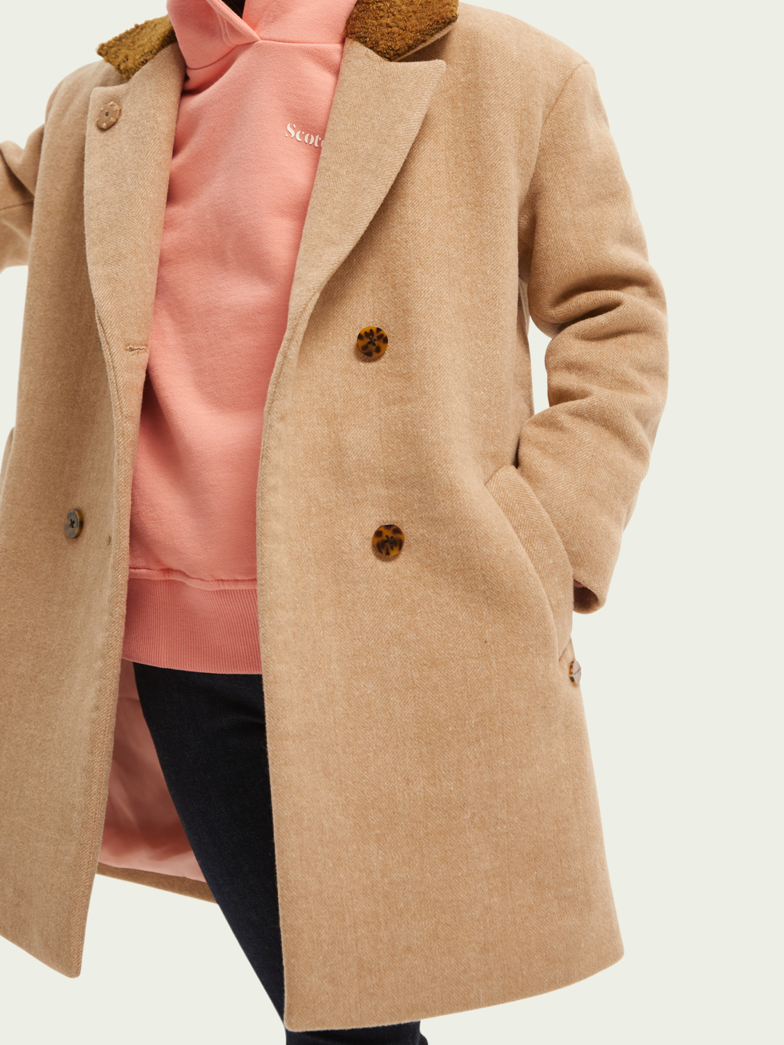 Kids Oversized double-breasted wool coat
