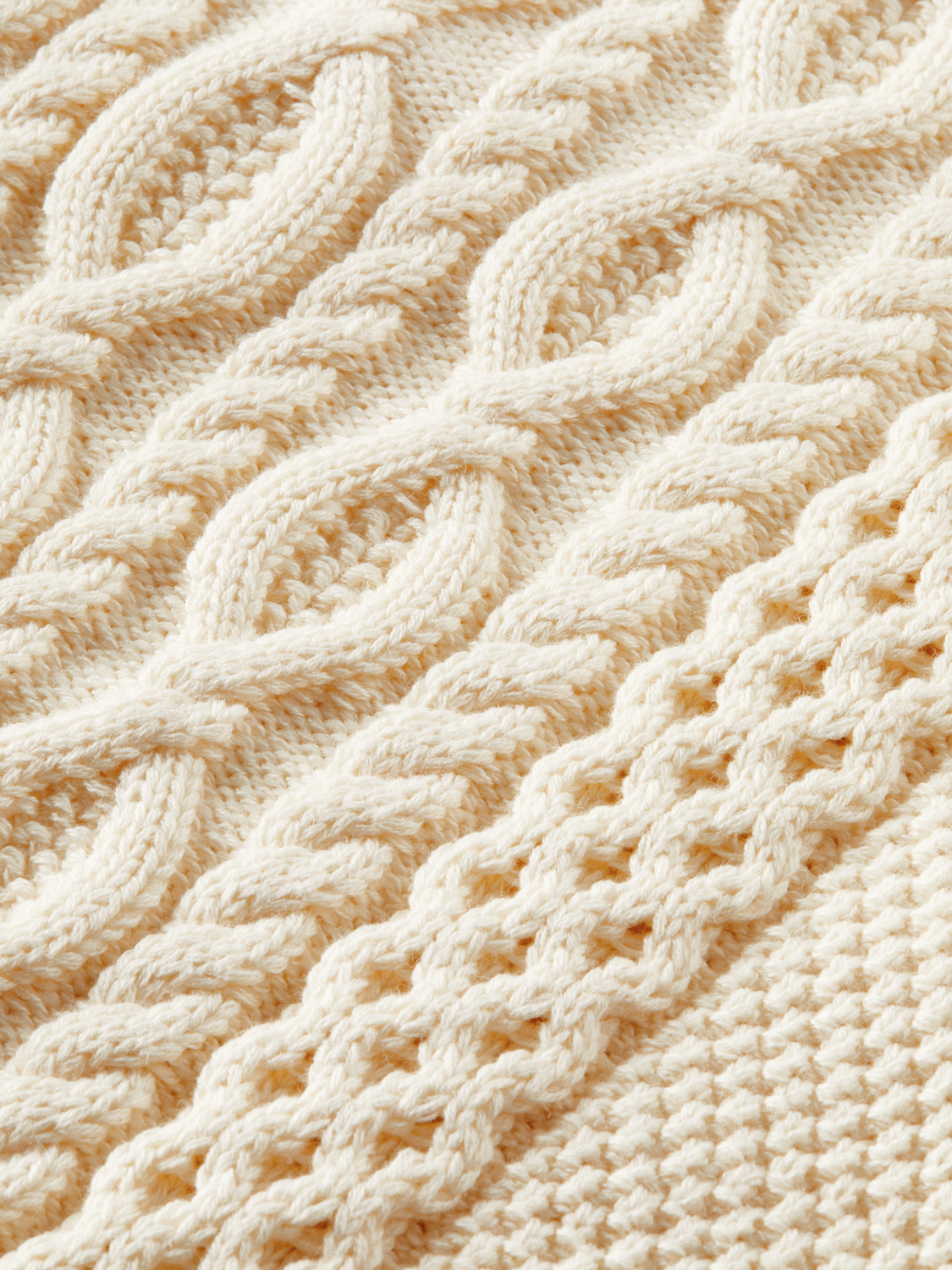 Kids Half-zip cable-knit sweater