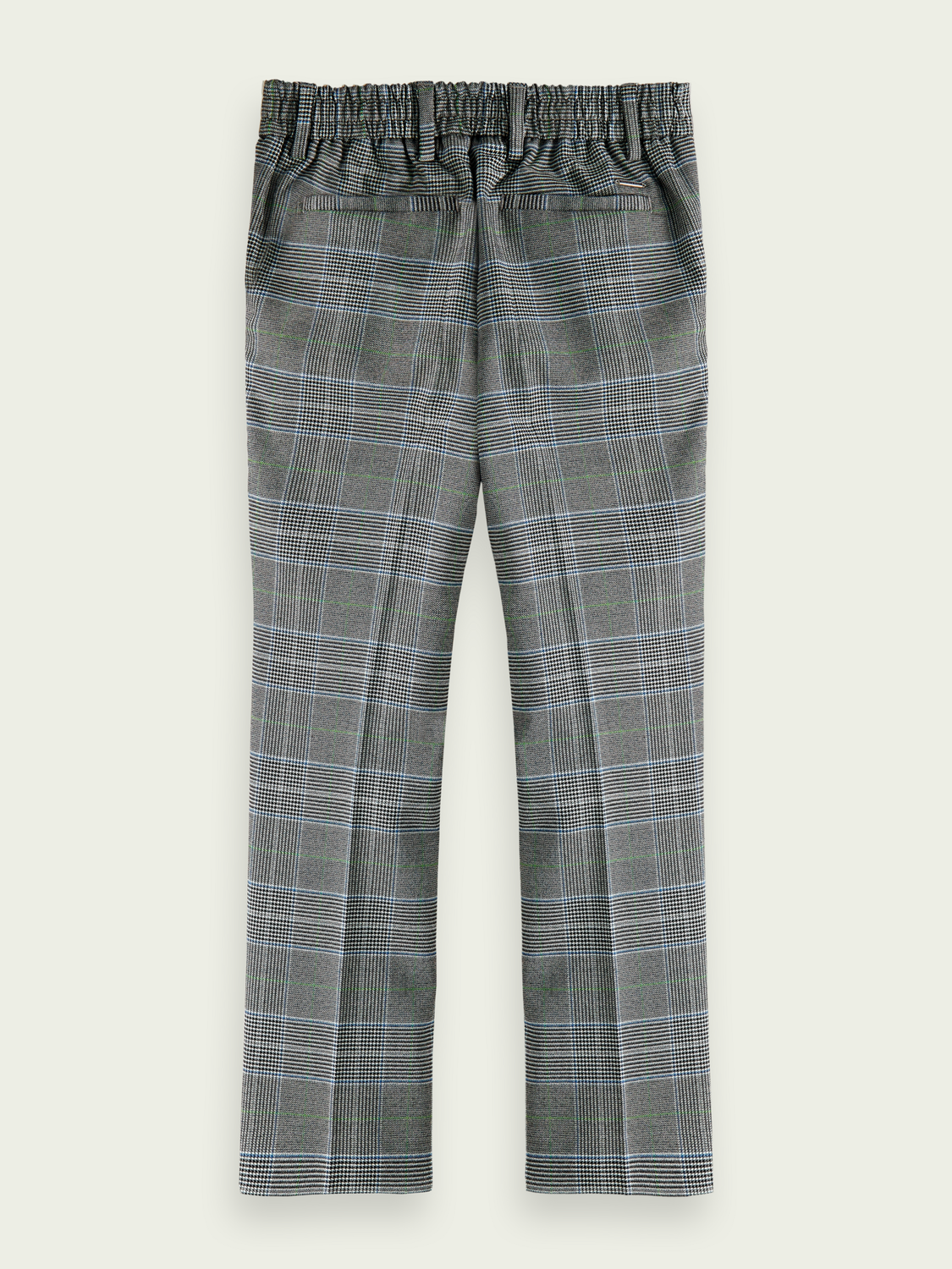 Hidden category Checked slim-fit chino