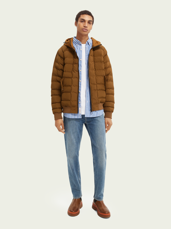 Men Water-repellent short puffer jacket
