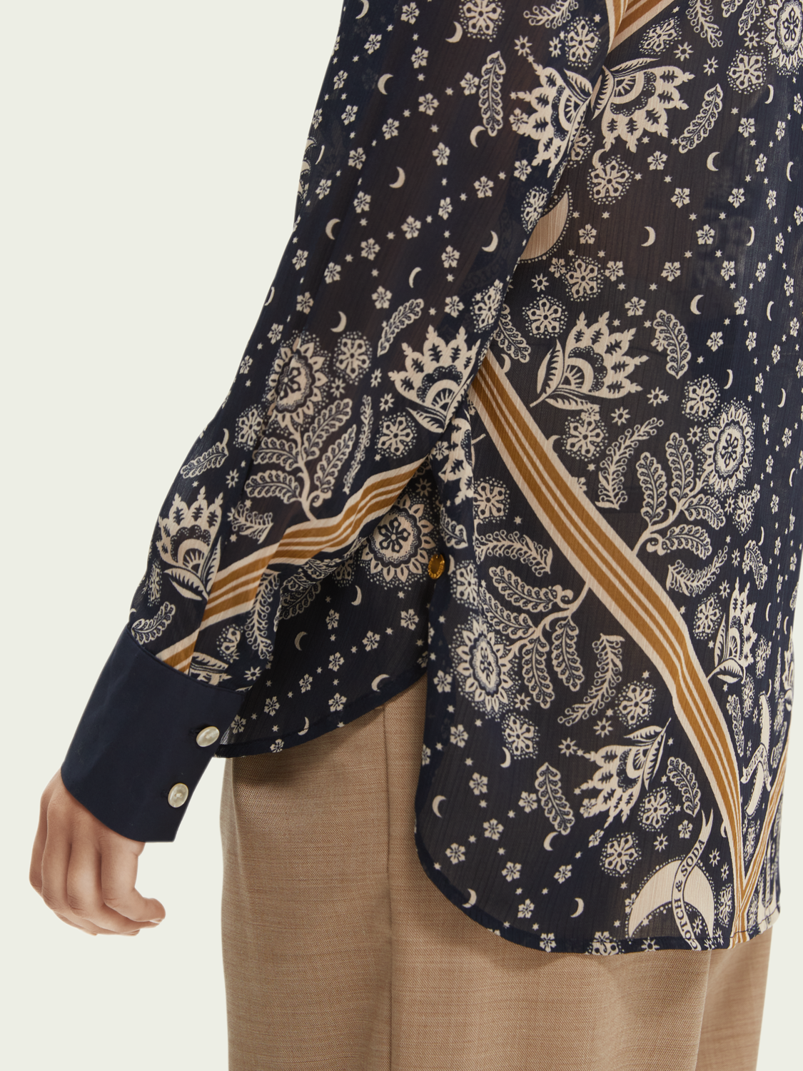 Damer Relaxed fit printed shirt