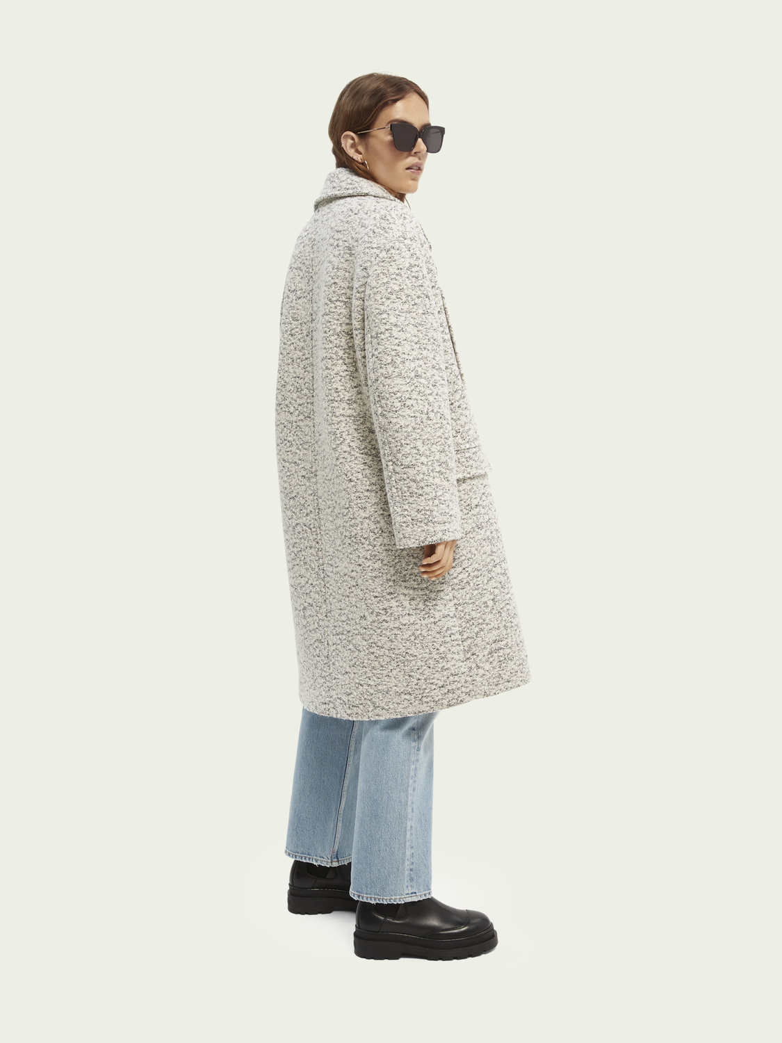 Women Relaxed-fit wool-blend boucle coat