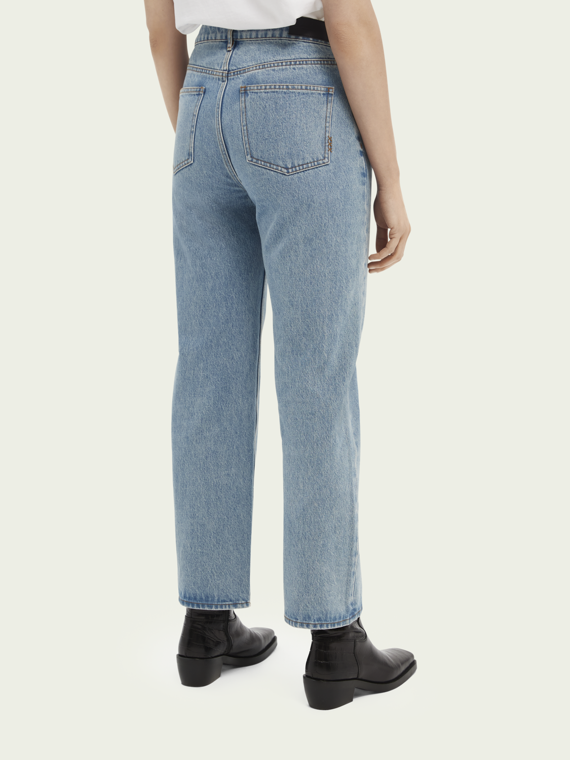 Women High-rise straight-fit jeans