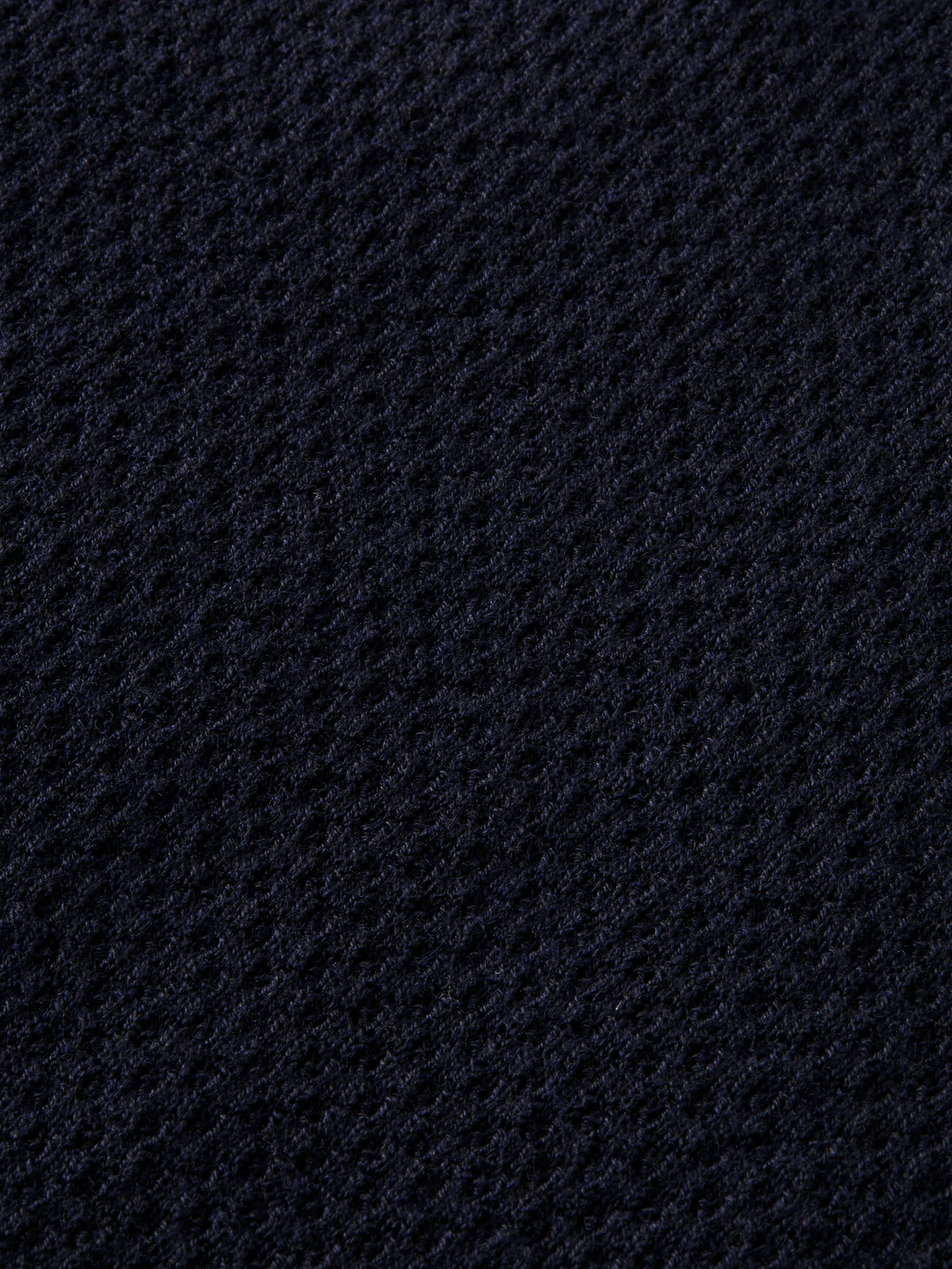 Knitted long-sleeved polo
