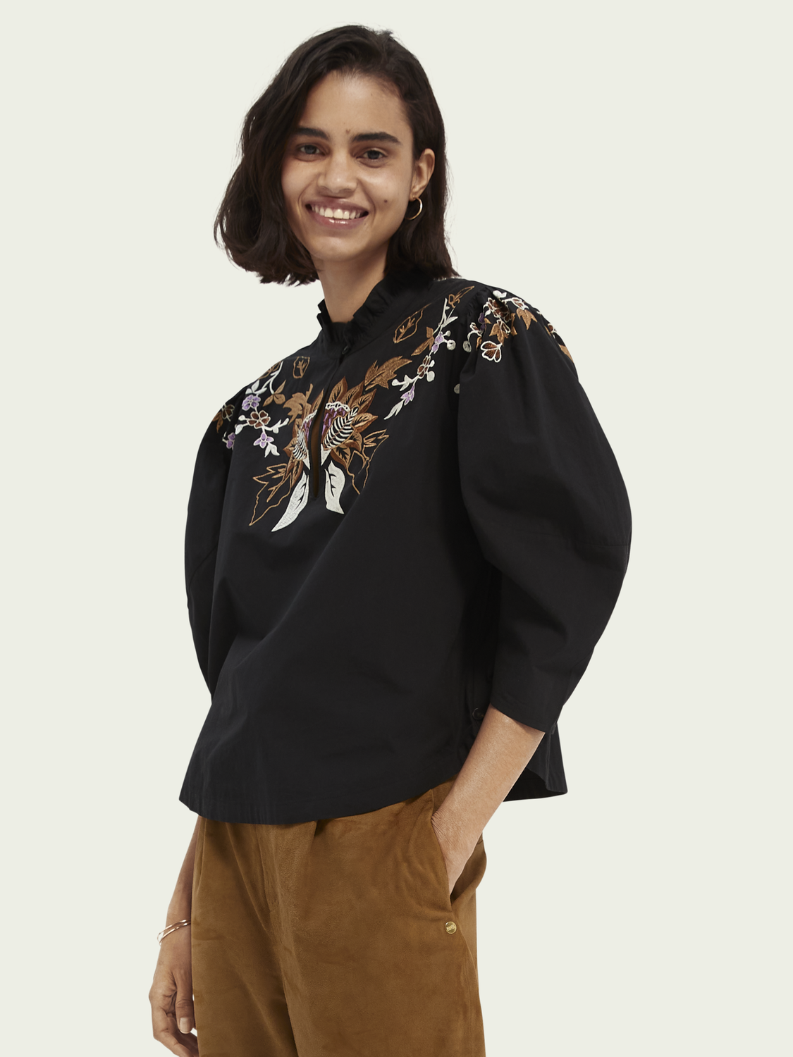 Women Embroidered organic cotton top