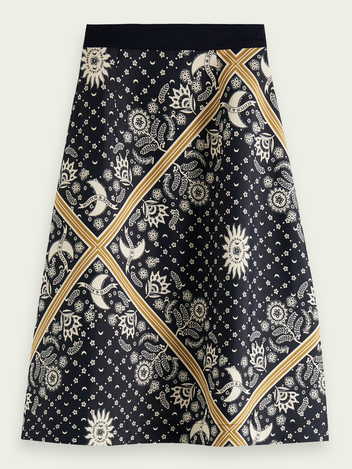 Women Double layer printed skirt