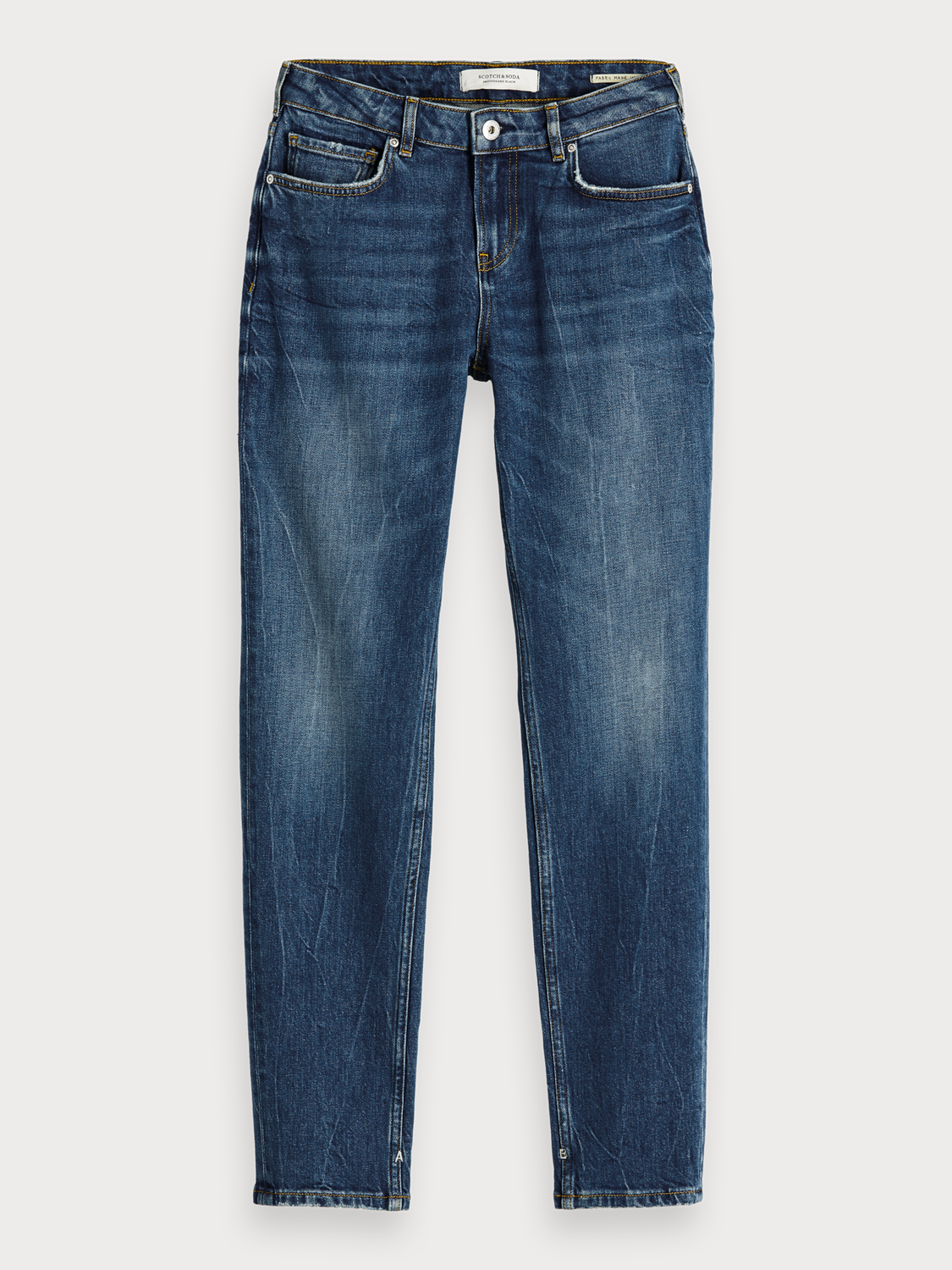 Damer The Keeper - Deep Blue | Mid rise slim fit