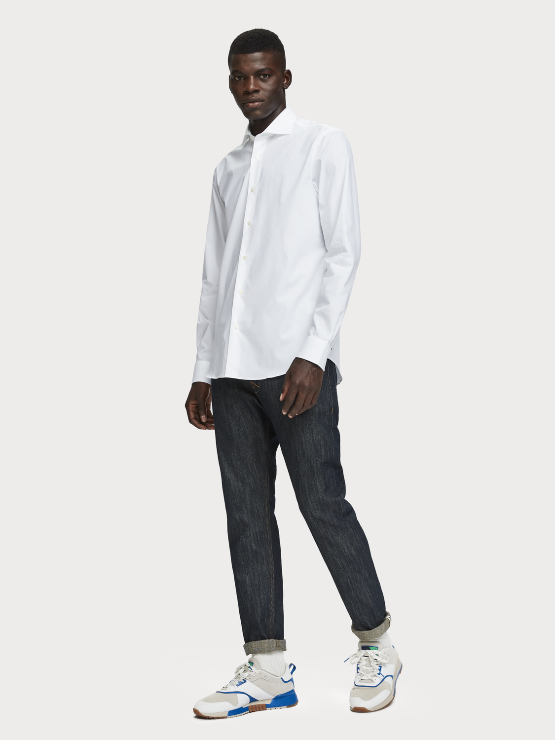 Men Stretch Cotton Shirt | Relaxed fit